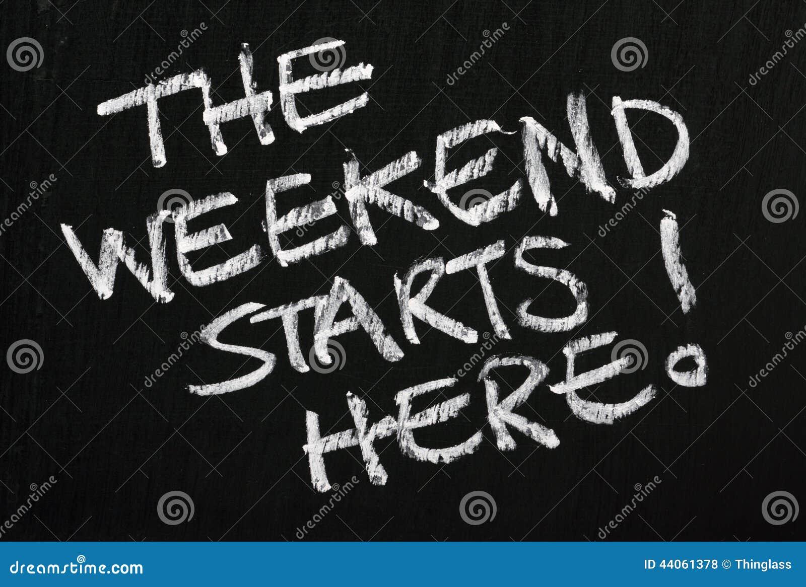 Il fine settimana comincia qui!
