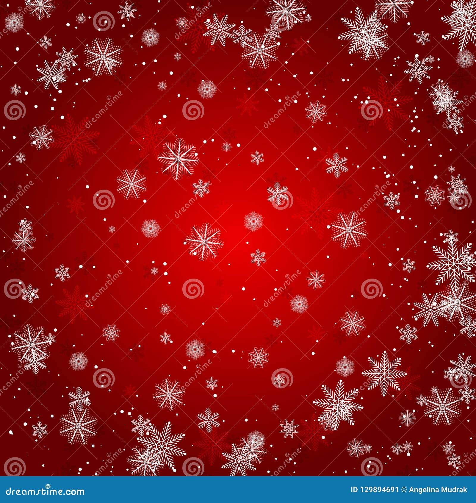 Il fiocco di neve di Natale con la luce della stella di notte e la caduta della neve sottraggono l illustrazione eps10 di vettore