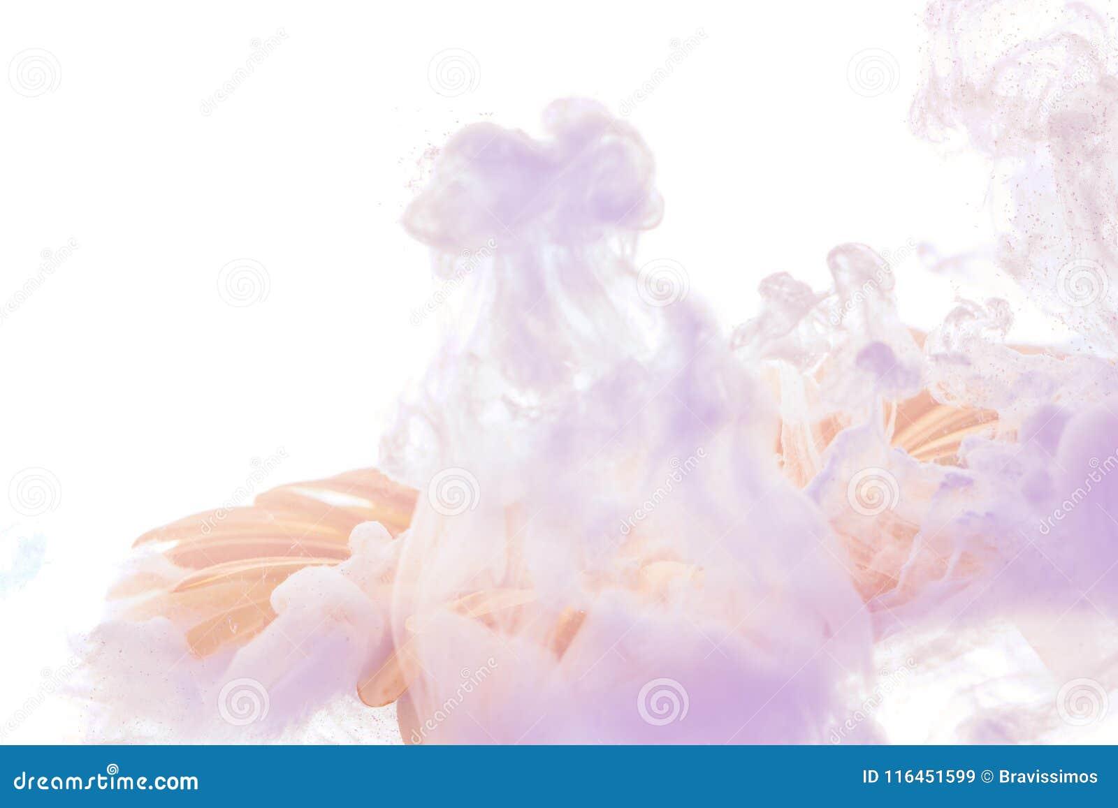 Il fiore blu luminoso con la viola spruzza isolato su fondo bianco