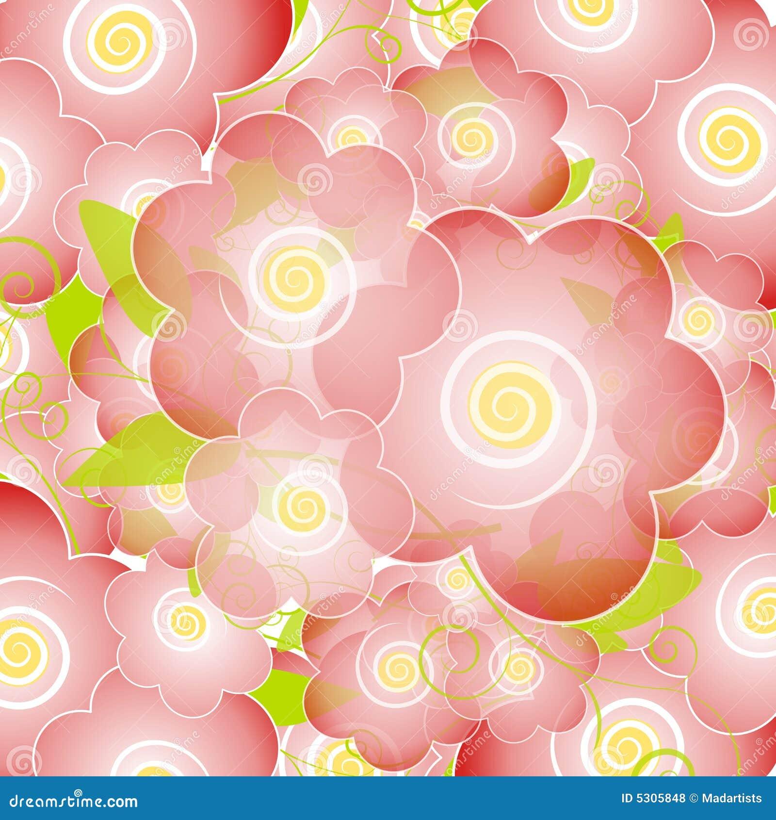 Download Il Fiore Rosa-chiaro Sboccia Priorità Bassa Illustrazione di Stock - Illustrazione di background, petali: 5305848