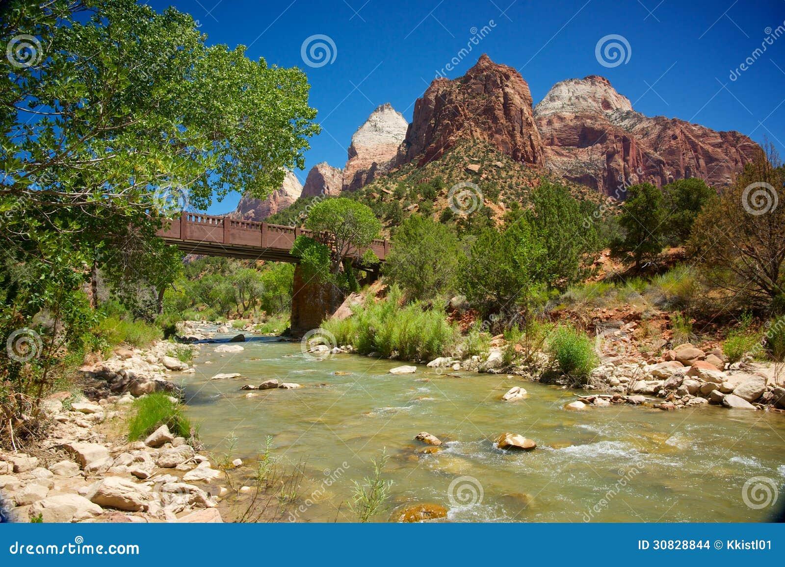 Il fiume vergine di Zion National Park