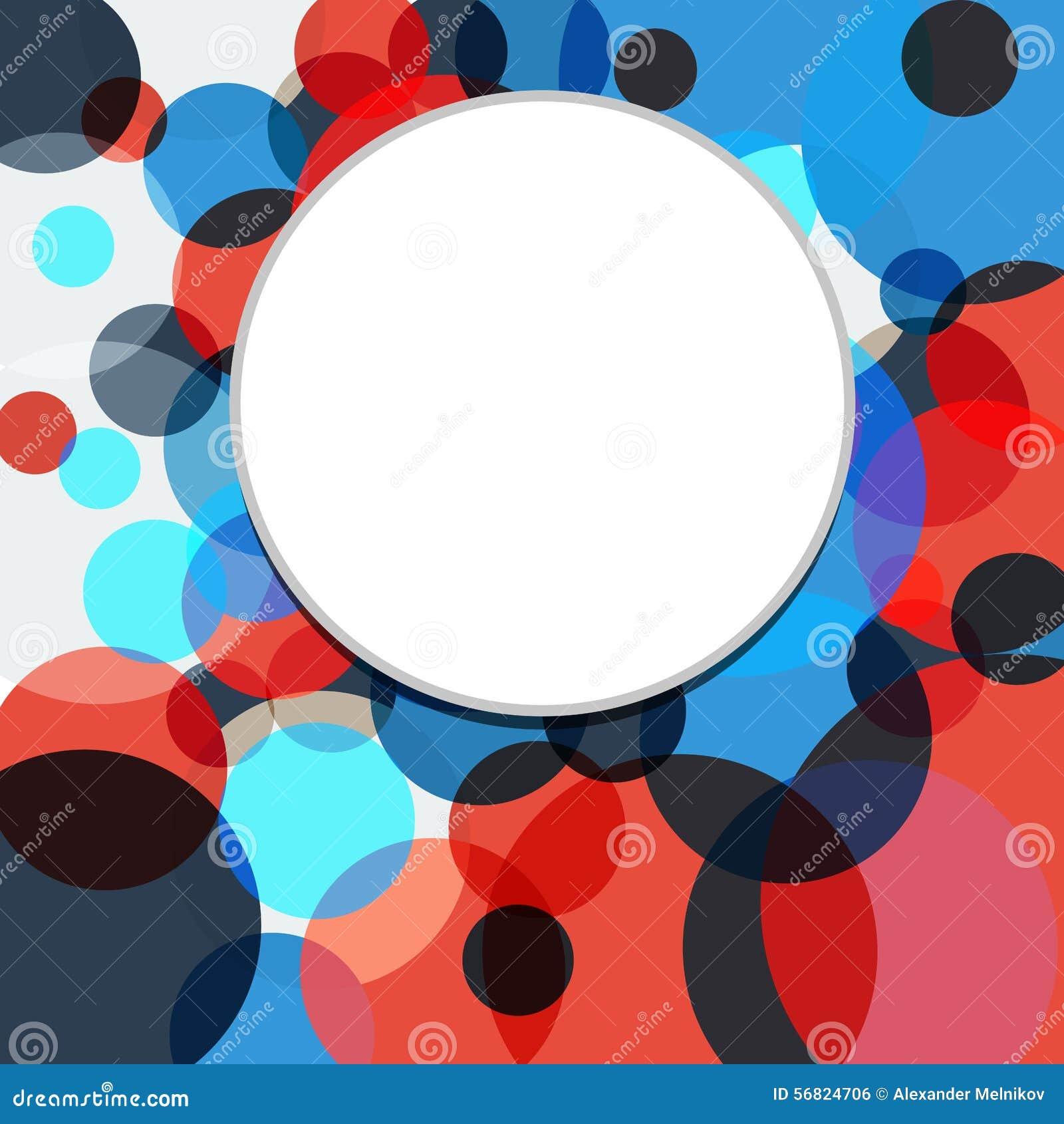 Il fondo astratto variopinto è dei cerchi multicolori Vettore