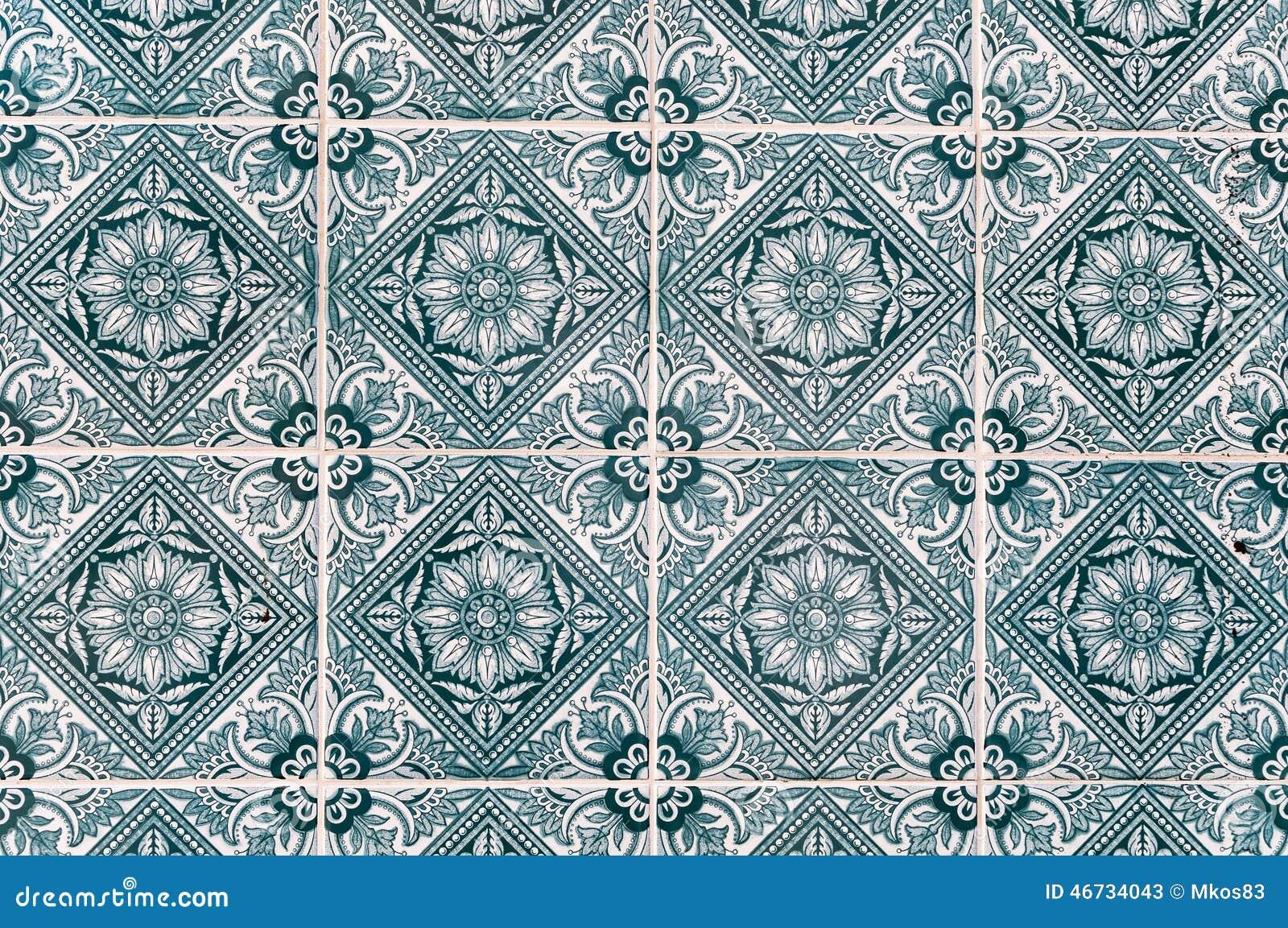 Il Fondo Fatto Delle Piastrelle Di Ceramica Portoghesi Ha Chiamato I  Azulejos