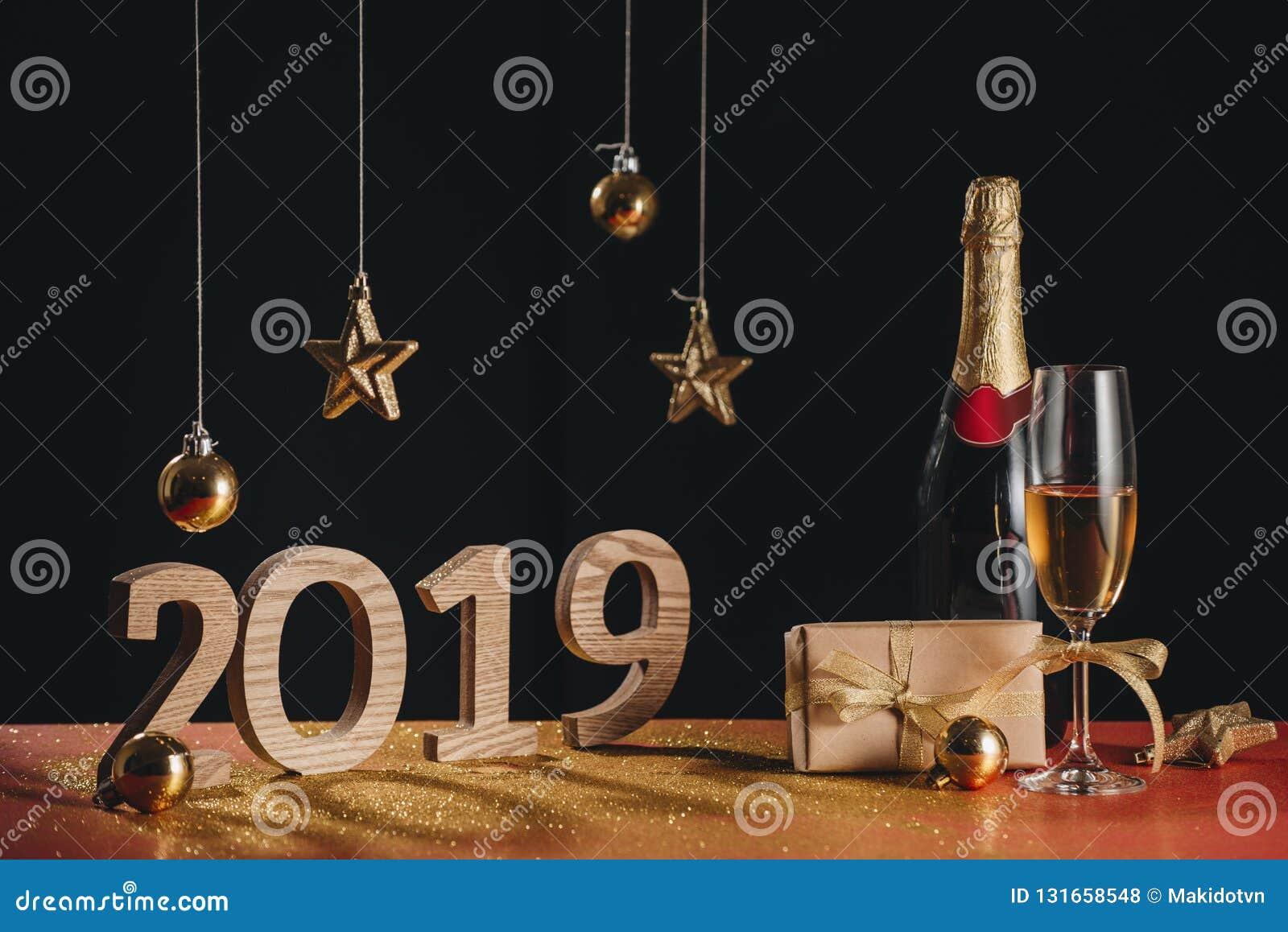 Il fondo scintillante del nuovo anno, copia lo spazio