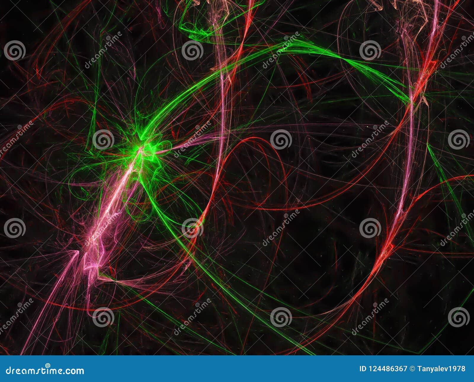 Il frattale digitale astratto si svasa fondo ottico di lucent di struttura di comunicazione del fascio, progettazione dell insegn