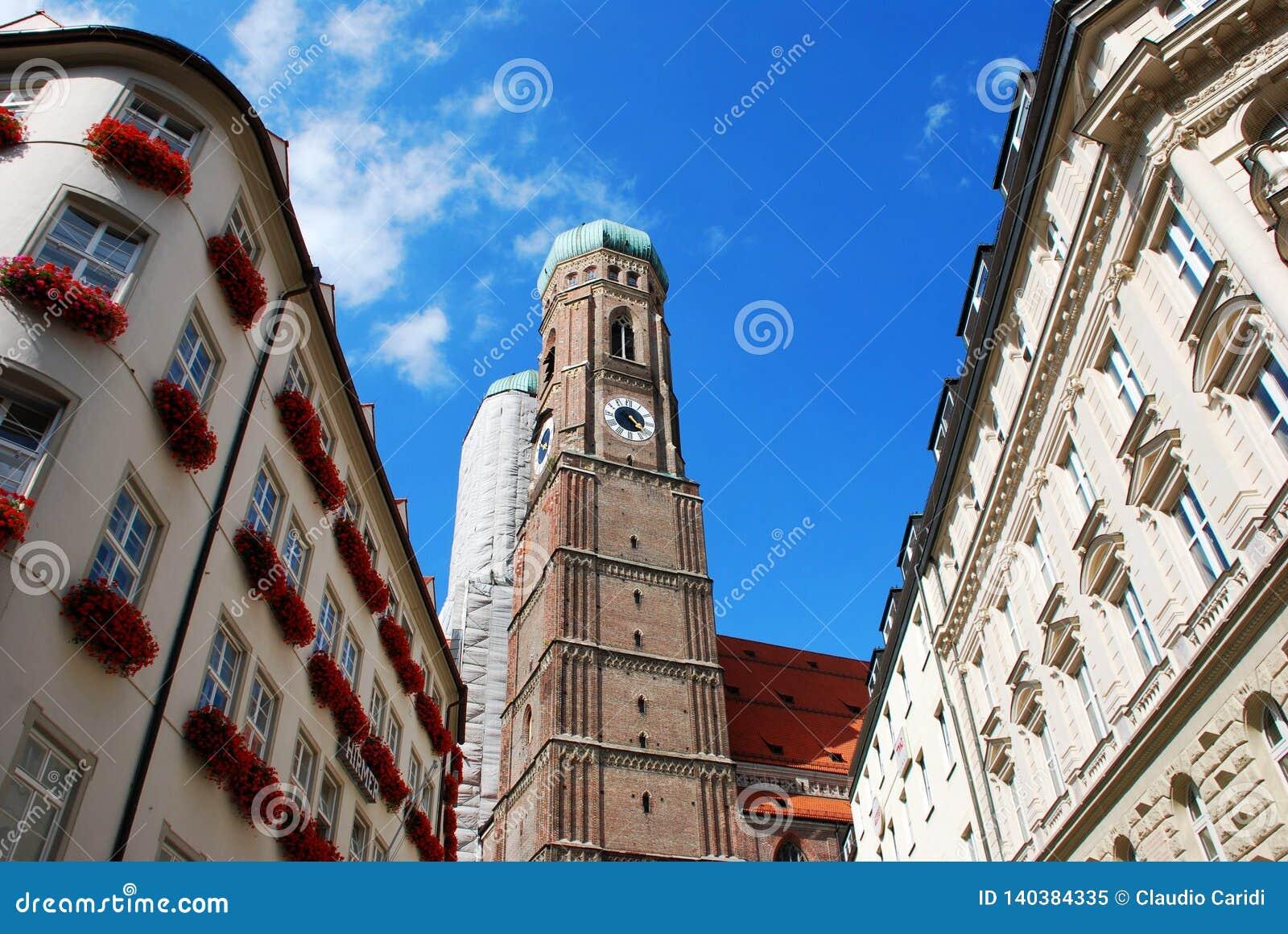 Il Frauenkirche famoso a Monaco di Baviera, Baviera, Germania