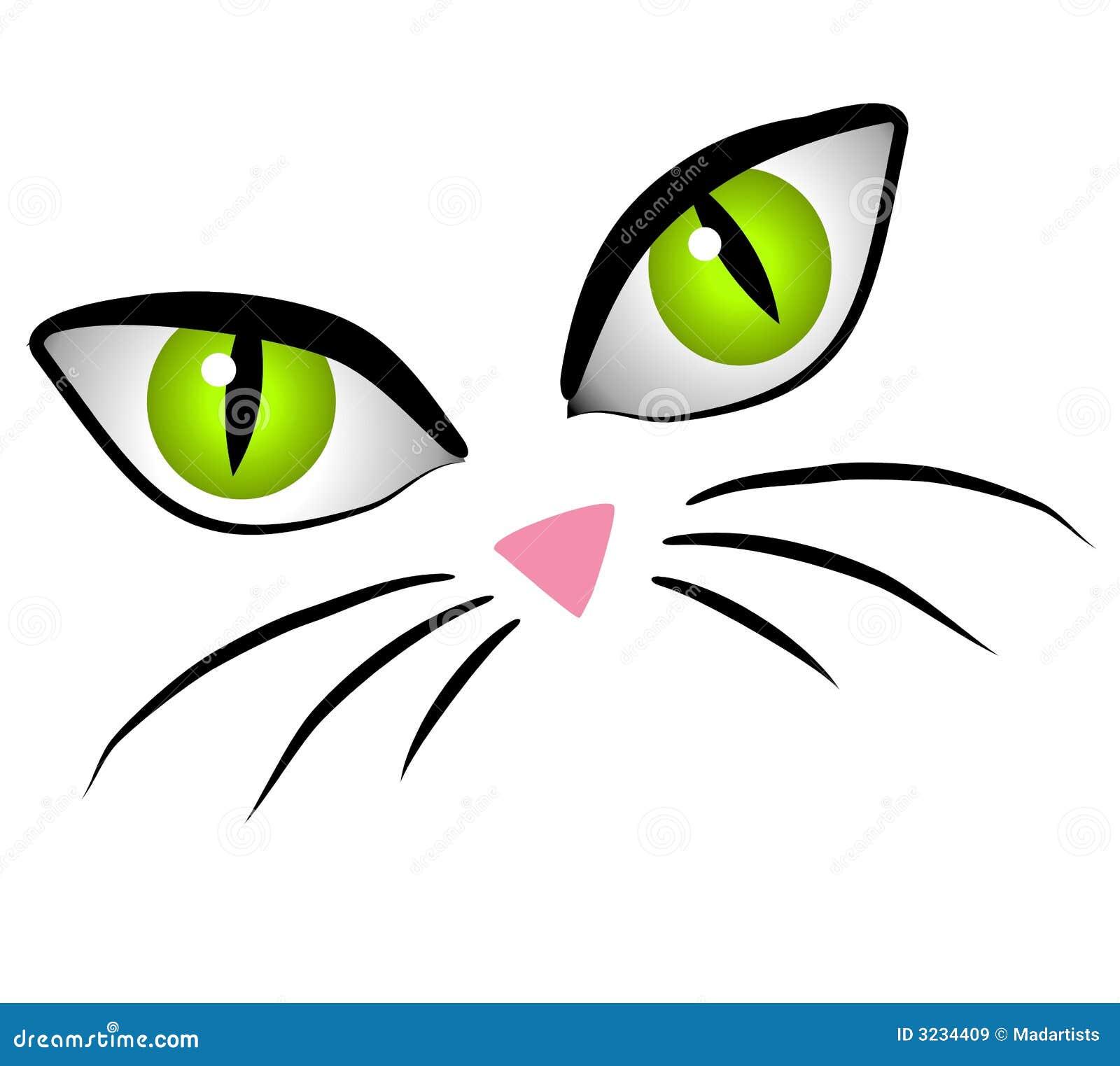 Il fronte del gatto del fumetto Eyes l arte di clip