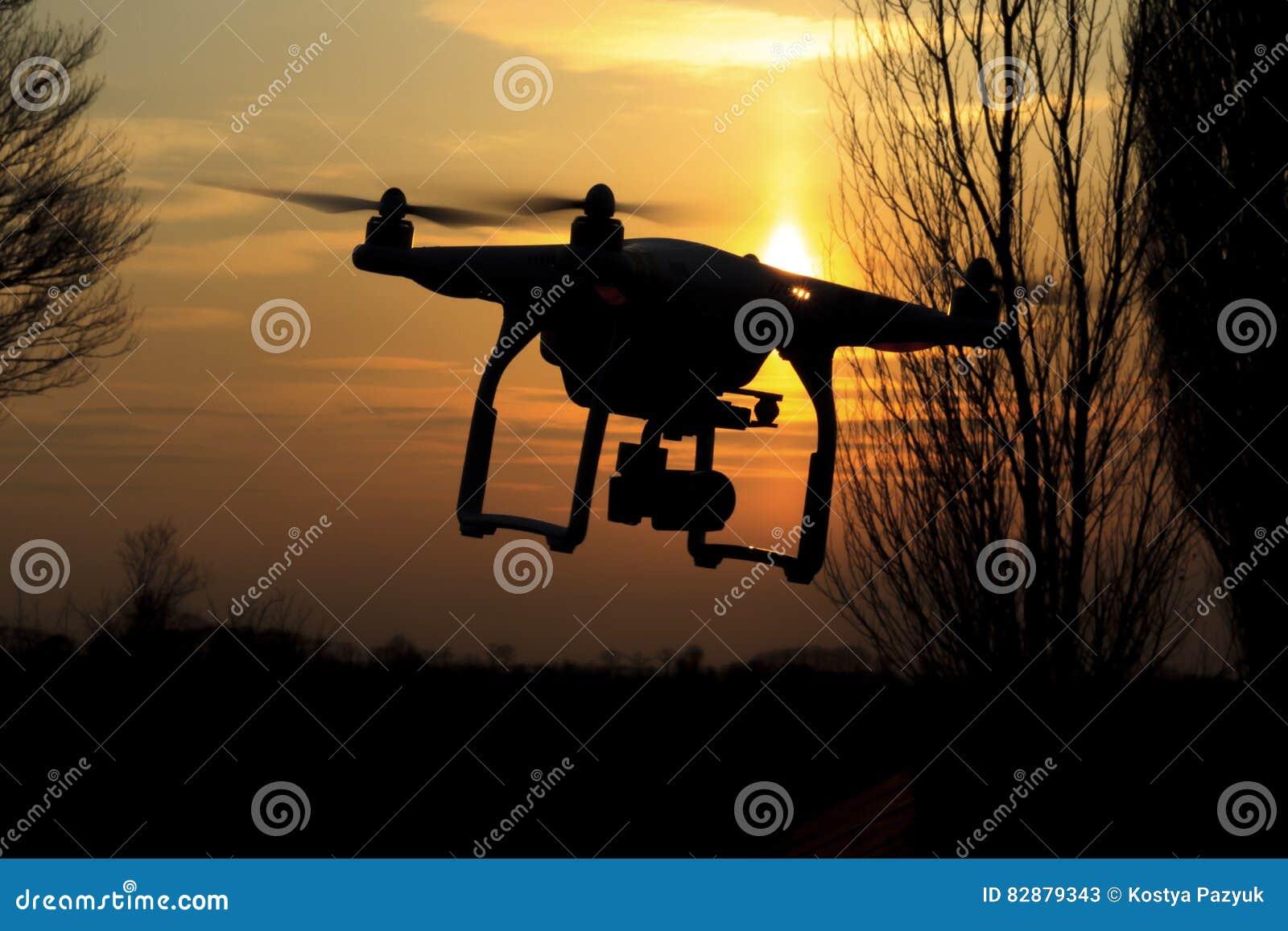Il fuco pilota e rimuove i campi che hanno punteggiato il paesaggio dell agricoltura