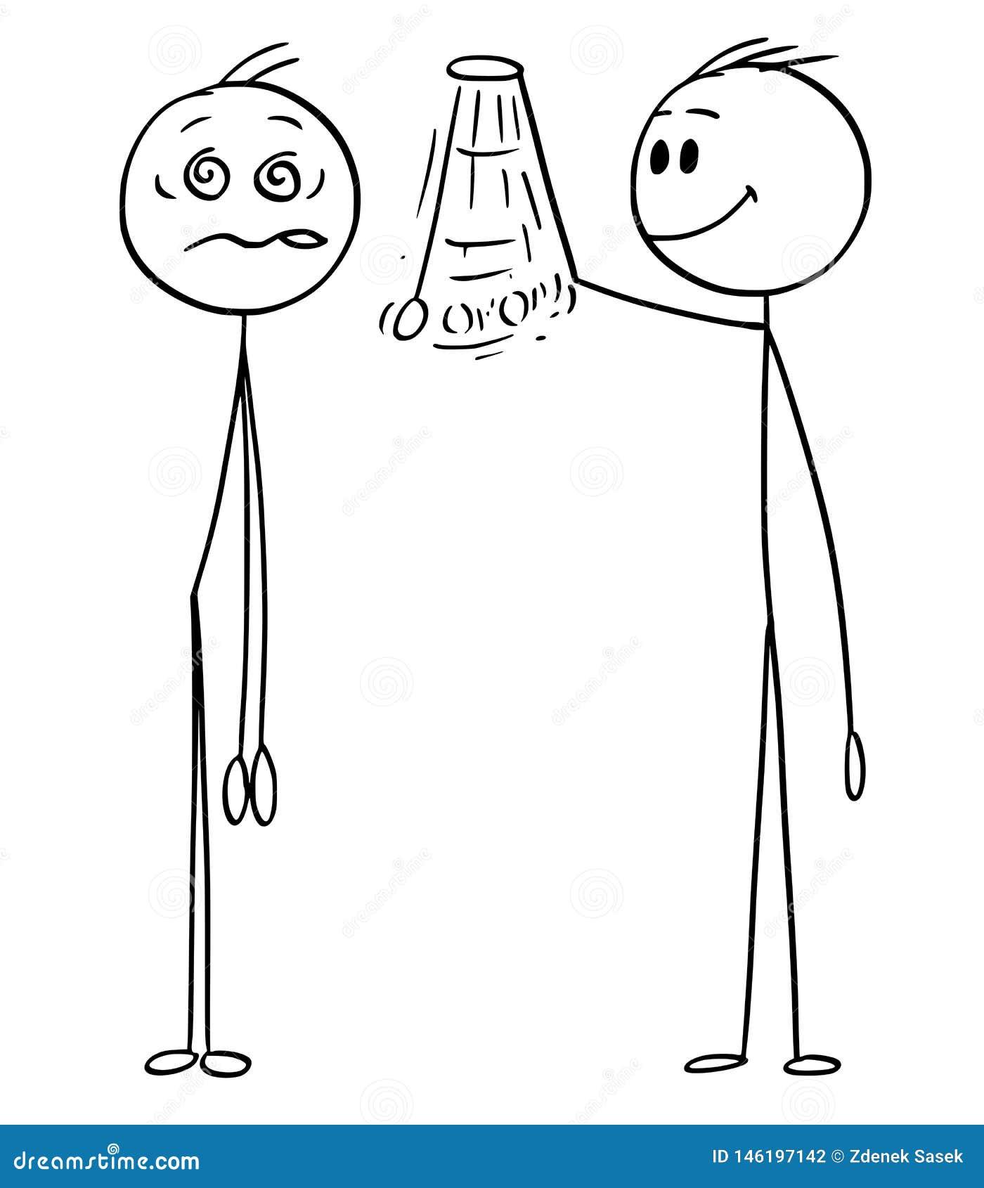 Il fumetto dell uomo ipnotizza dall ipnotizzatore Who Takes Control circa lui