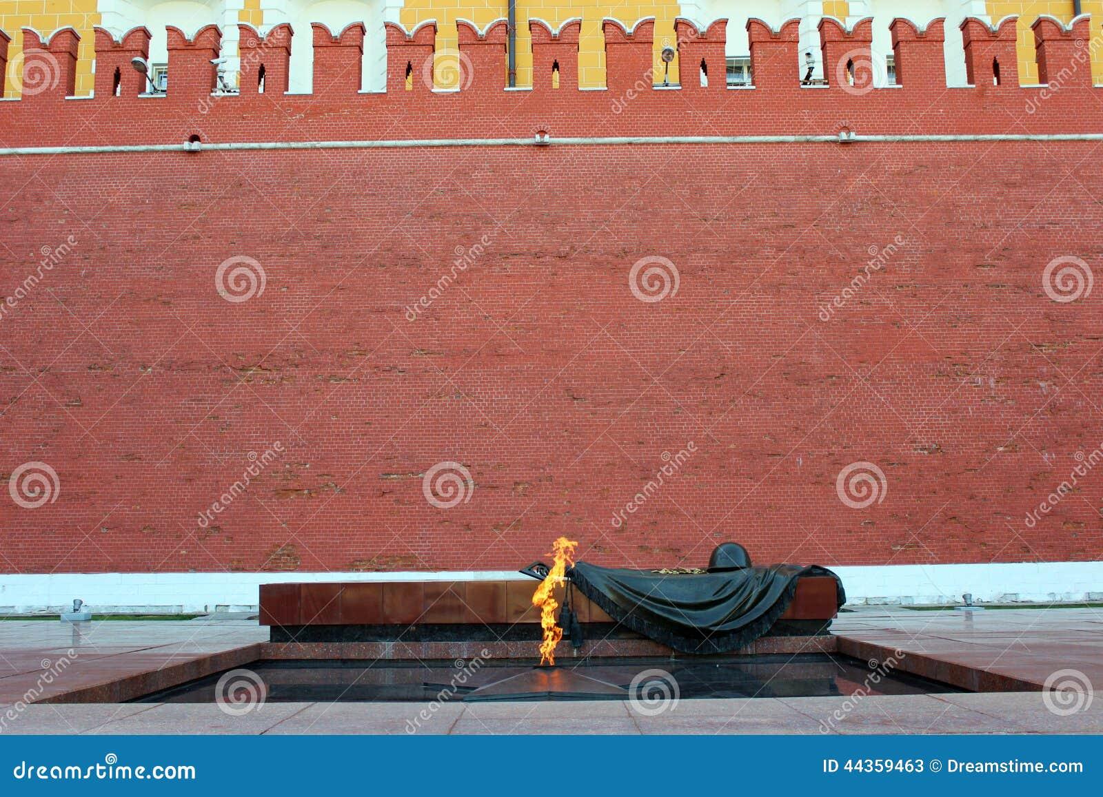 Il fuoco eterno alla parete di Cremlino