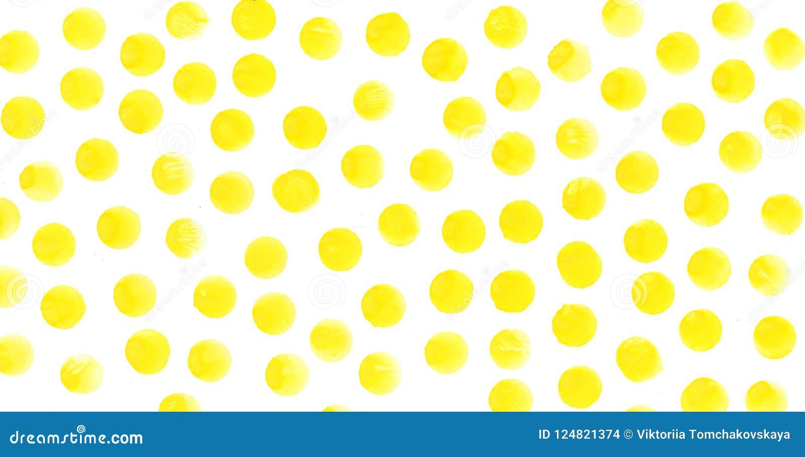 Il giallo circonda il fondo dell acquerello L acquerello struttura i cerchi dipinti a mano astratti