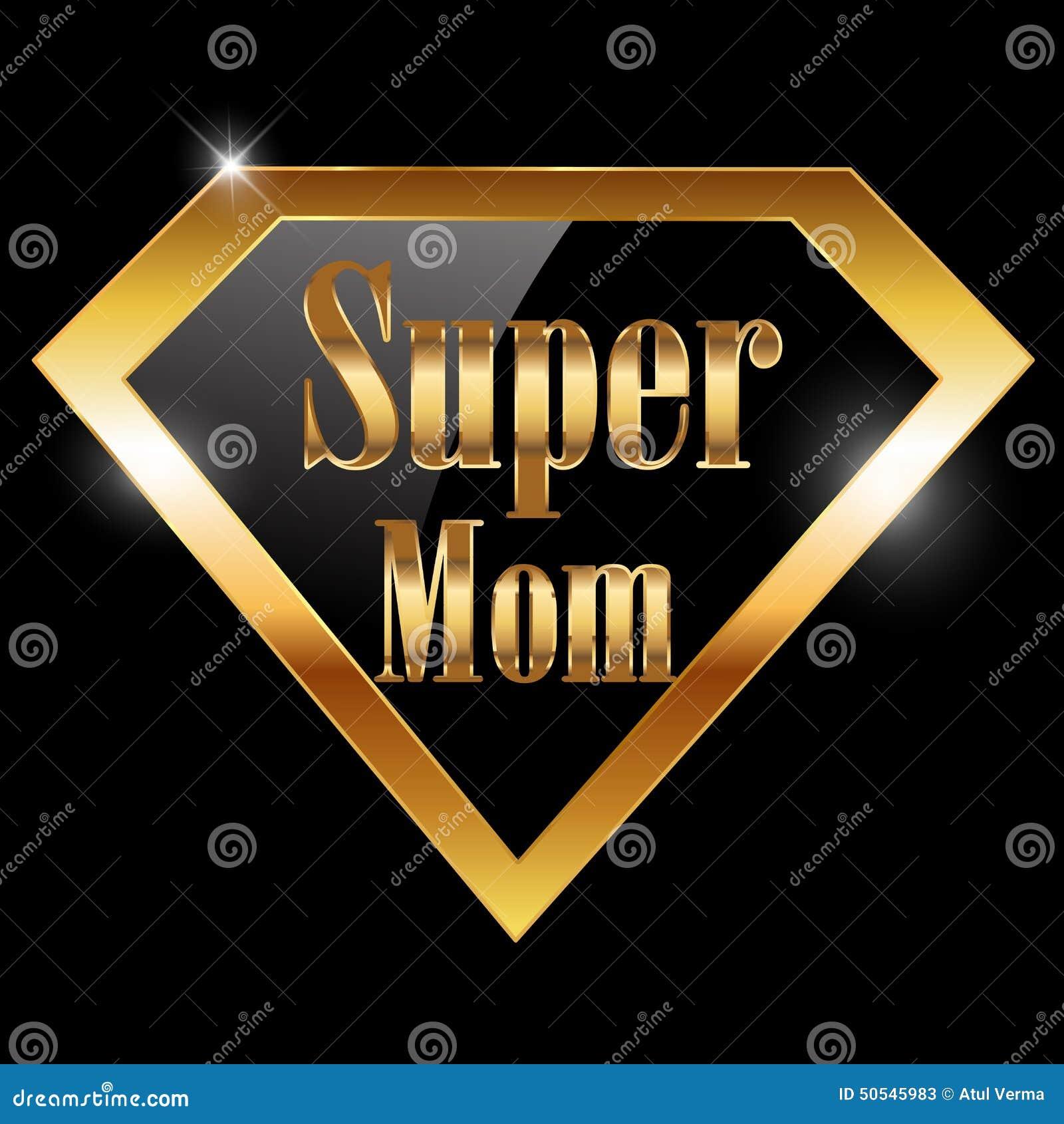 Il giorno di madri felice, amo la cartolina d auguri della mamma con il testo dorato dell eroe eccellente