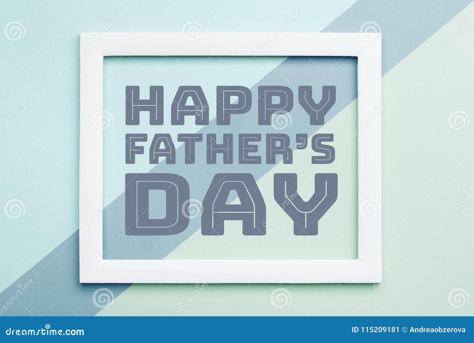 Il giorno felice Candy pastello del ` s del padre colora il fondo Cartolina d auguri piana di giorno di padre di minimalismo di d