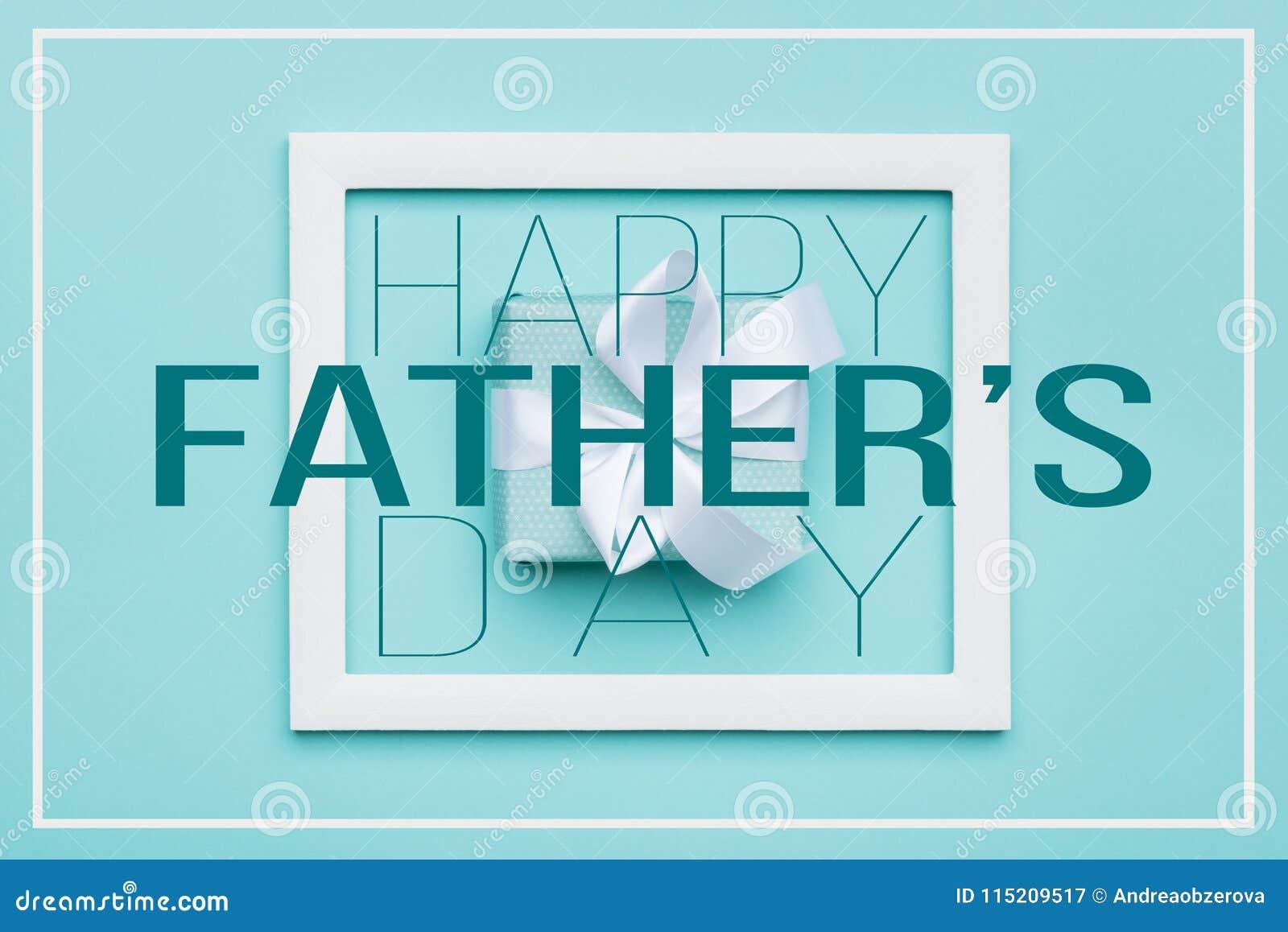 Il giorno felice Candy pastello del ` s del padre colora il fondo Cartolina d auguri piana di minimalismo di disposizione con la