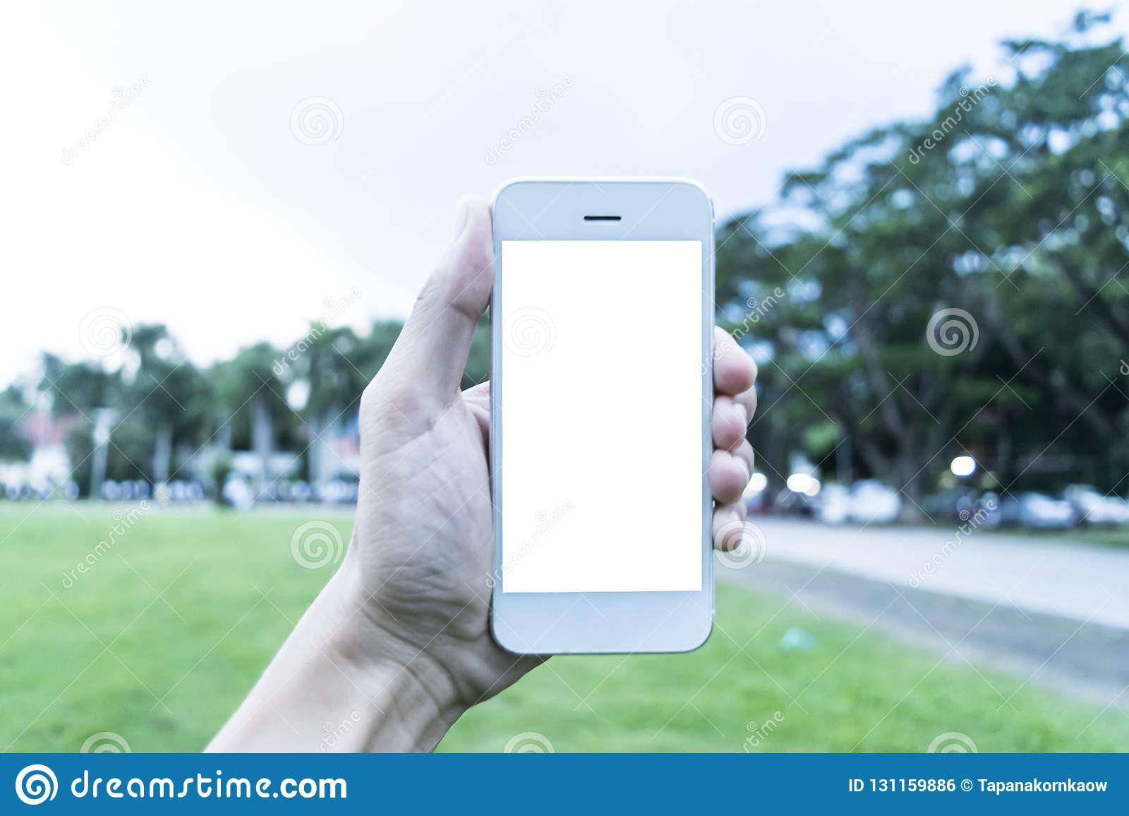 Il giovane utilizza il suo telefono cellulare per prendere le immagini delle sue memorie