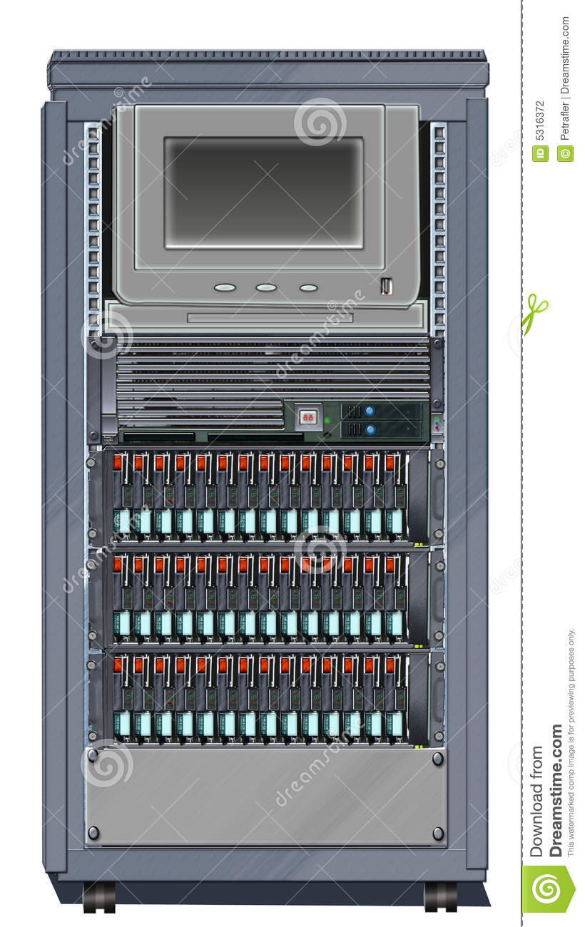 Download Il Governo Del Server, Cremagliera Ha Montato 1 Illustrazione di Stock - Illustrazione di cremagliera, hardware: 5316372