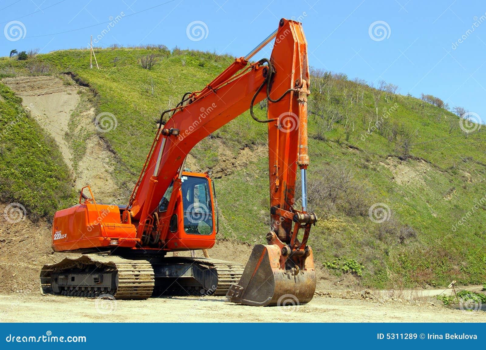 Download Il grande escavatore. immagine stock. Immagine di lavoro - 5311289
