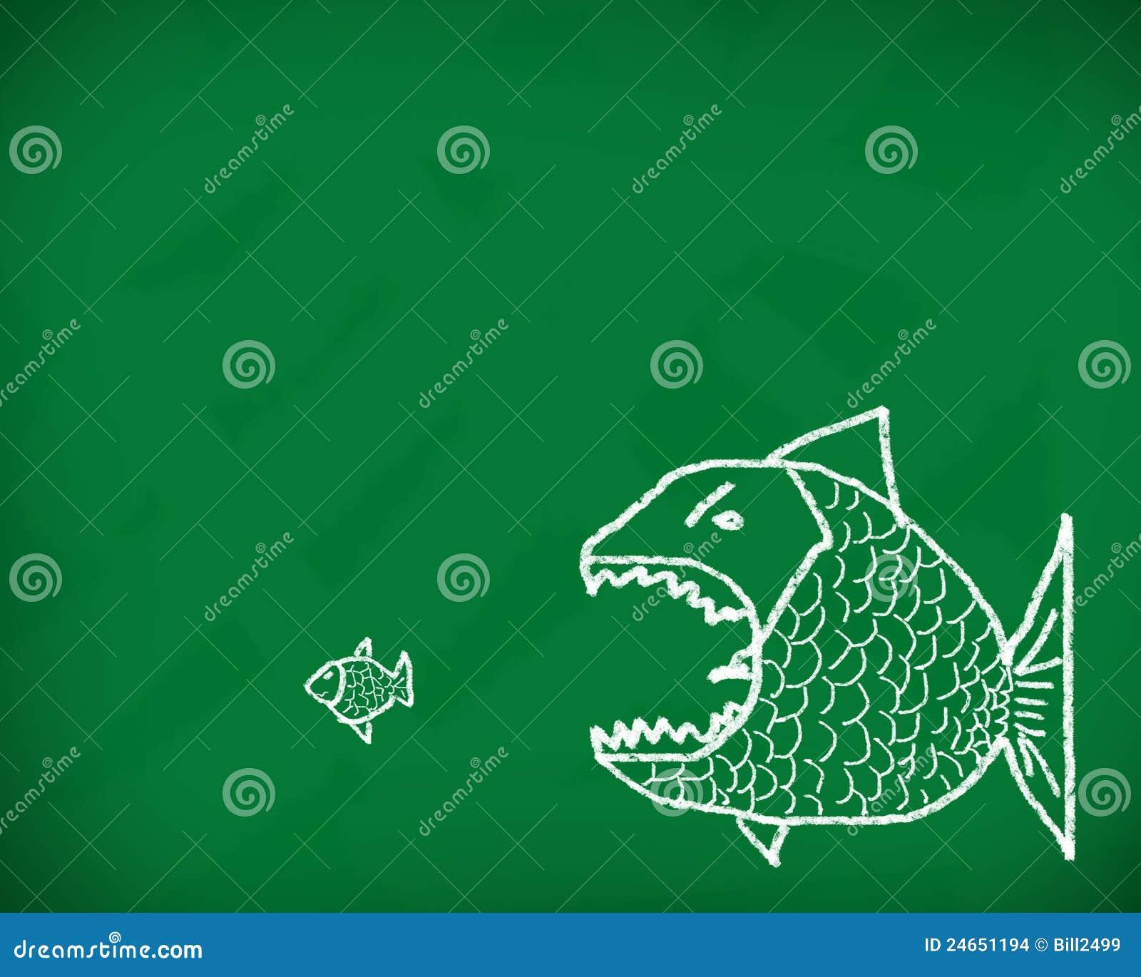 Il grande pesce mangia il piccolo
