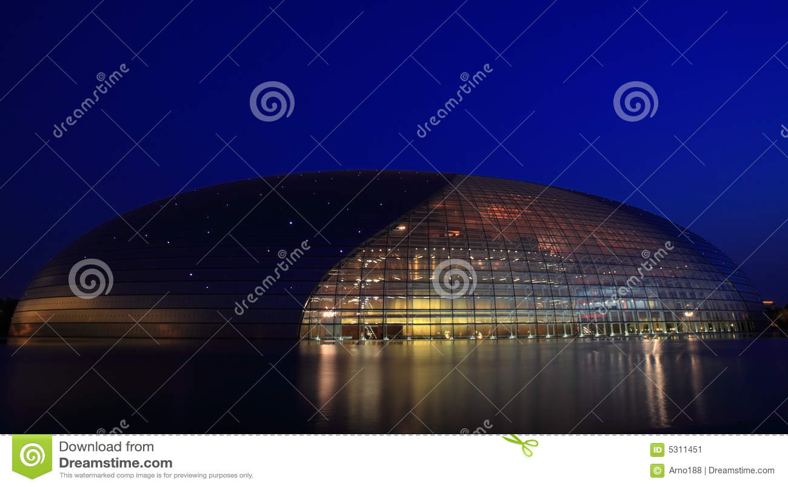 Download Il Grande Teatro Nazionale A Pechino Immagine Stock - Immagine di costruzioni, magia: 5311451