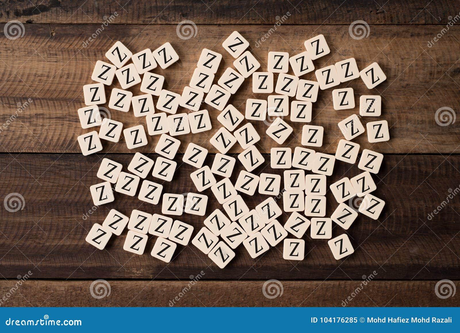 Il gruppo di alfabeto piastrella la lettera z immagine stock