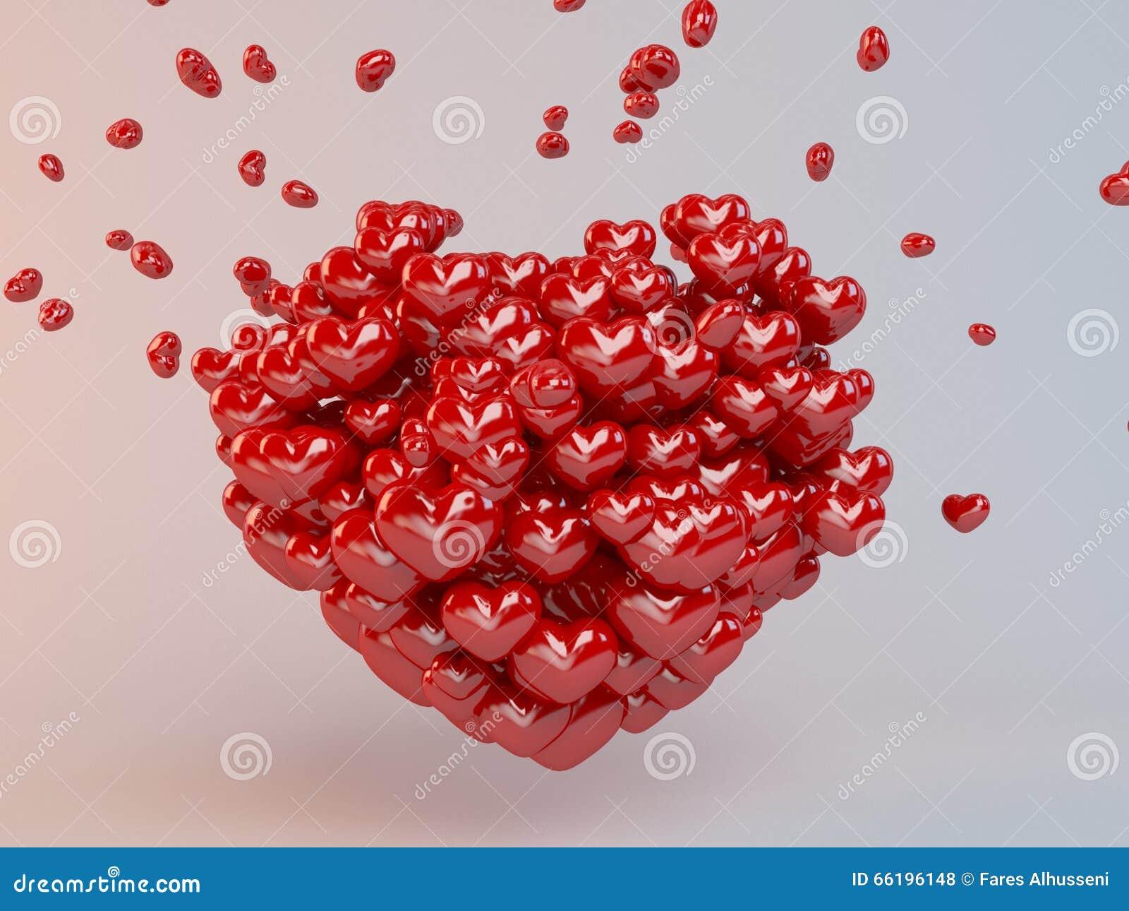 Il gruppo di cuori rossi balloons formando un cuore for Immagini di cuori rossi