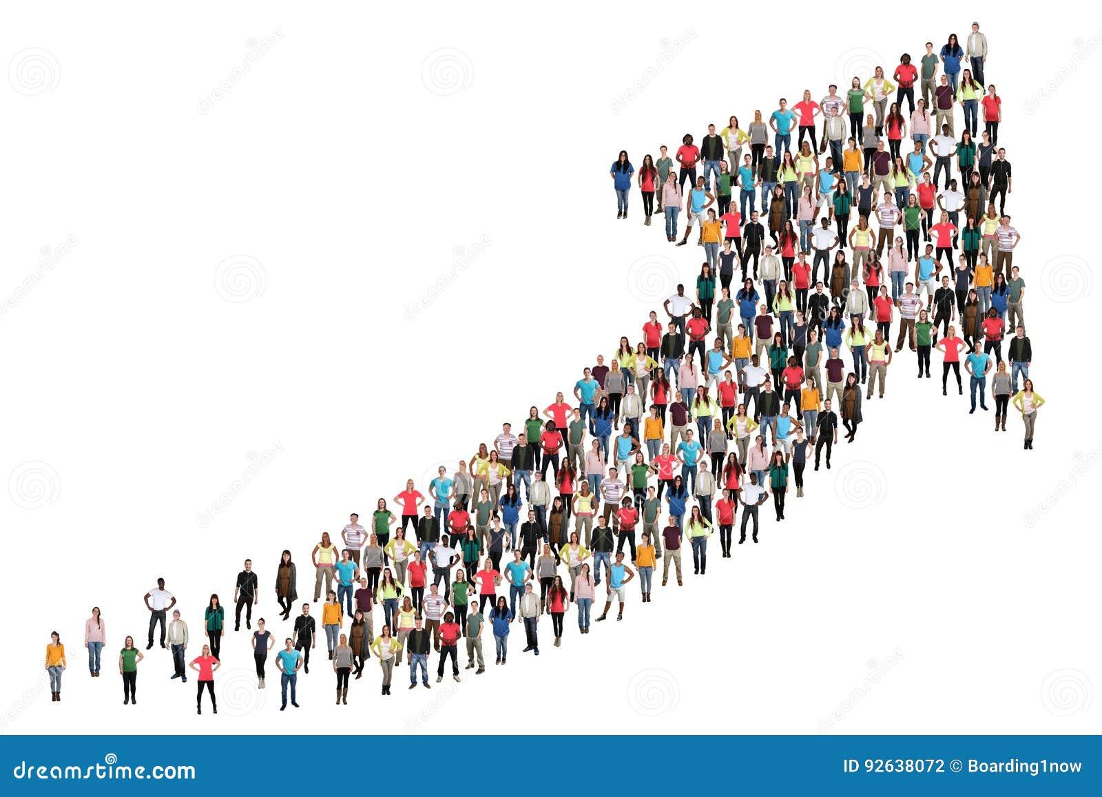 Il gruppo di persone l affare di successo migliora il riuscito inizio della crescita