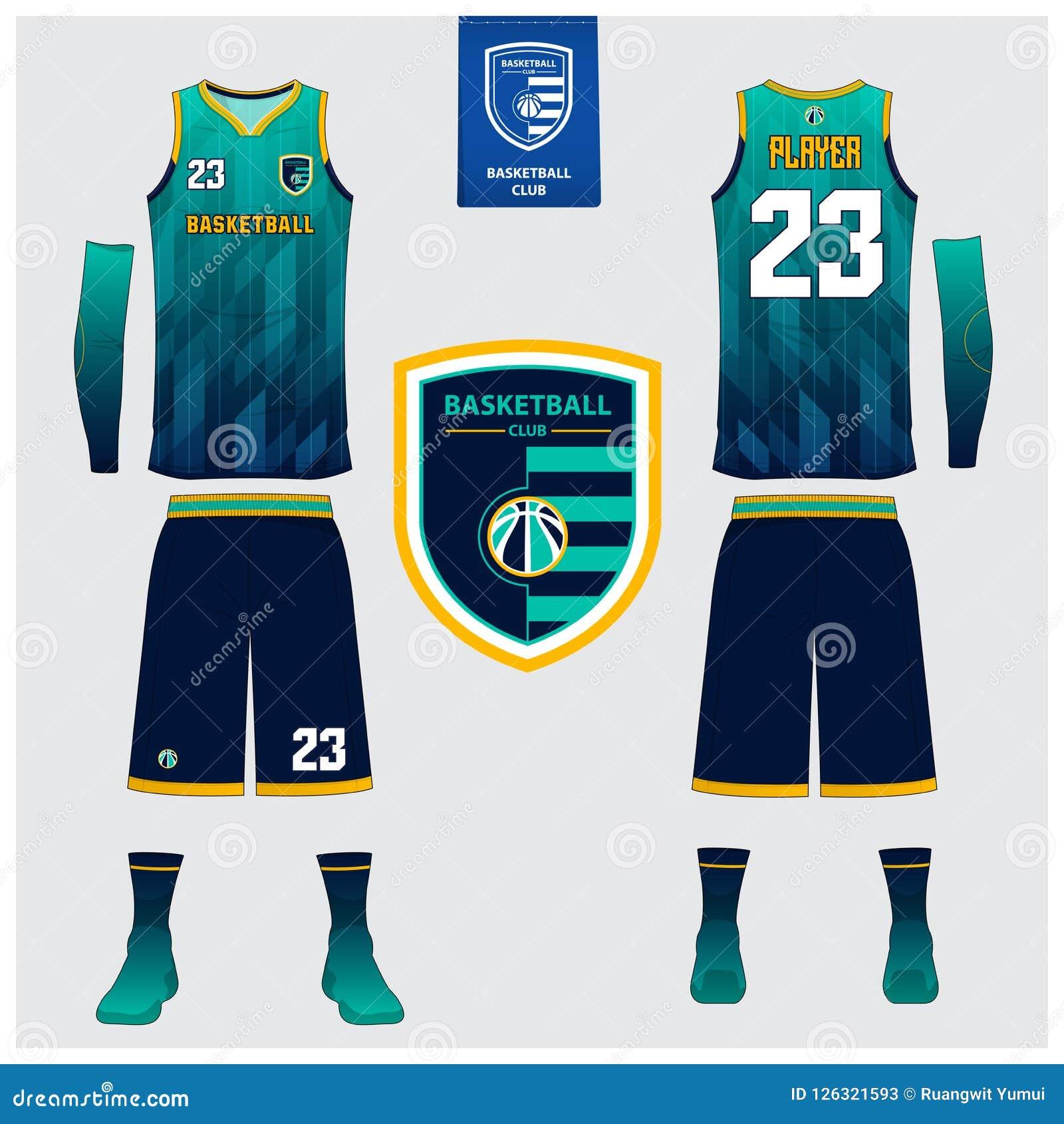 Il jersey di pallacanestro, shorts, colpisce con forza il modello per il club di pallacanestro Uniforme anteriore e posteriore di