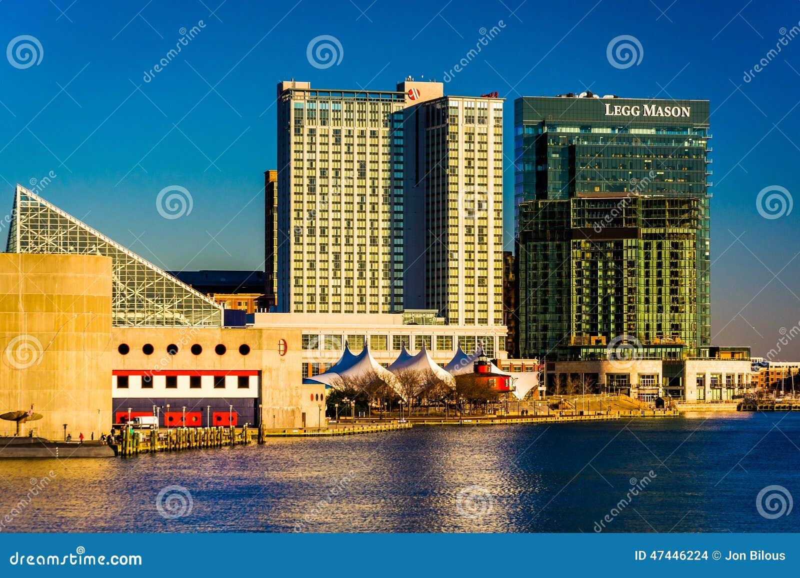 Il Legg Mason Building ed hotel di lungomare di Marriott nella locanda