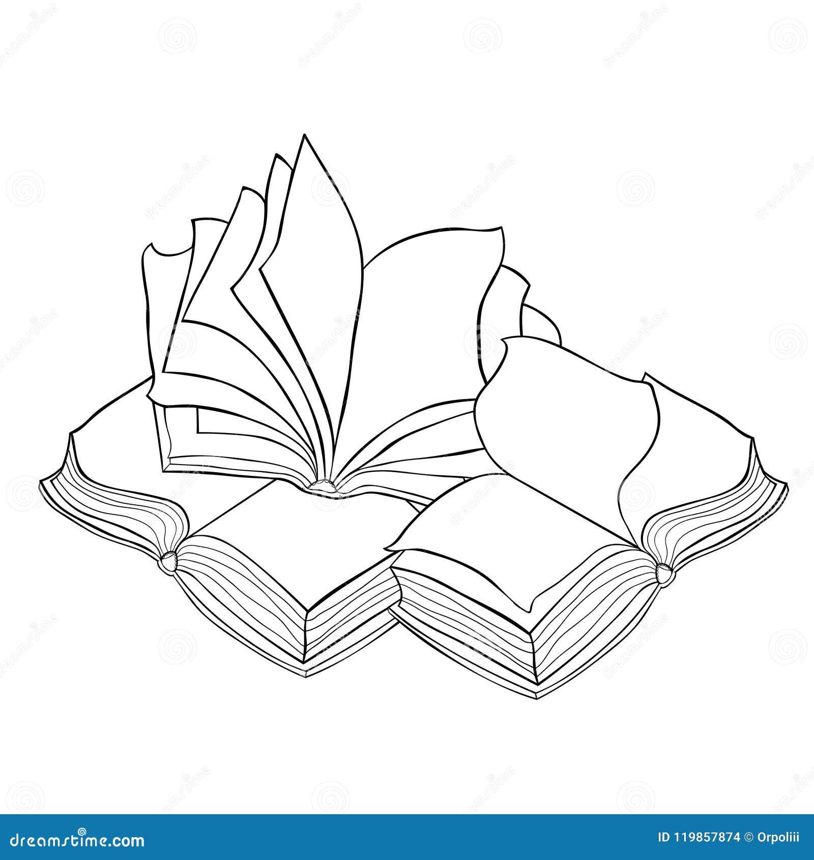 Il Libro Aperto Con Le Pagine Illustrazione Di Vettore Illustrazione