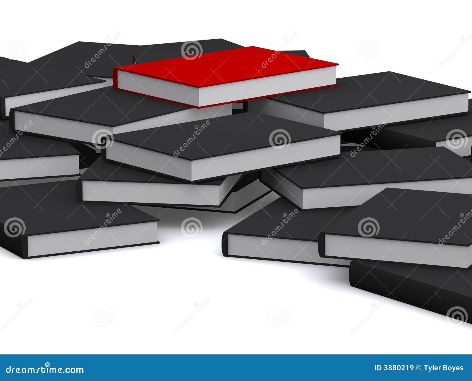 Il libro rosso è sulla parte superiore