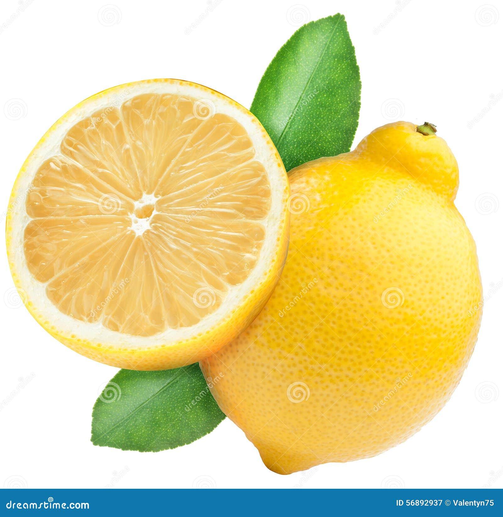 Il limone maturo e la metà del limone fruttificano