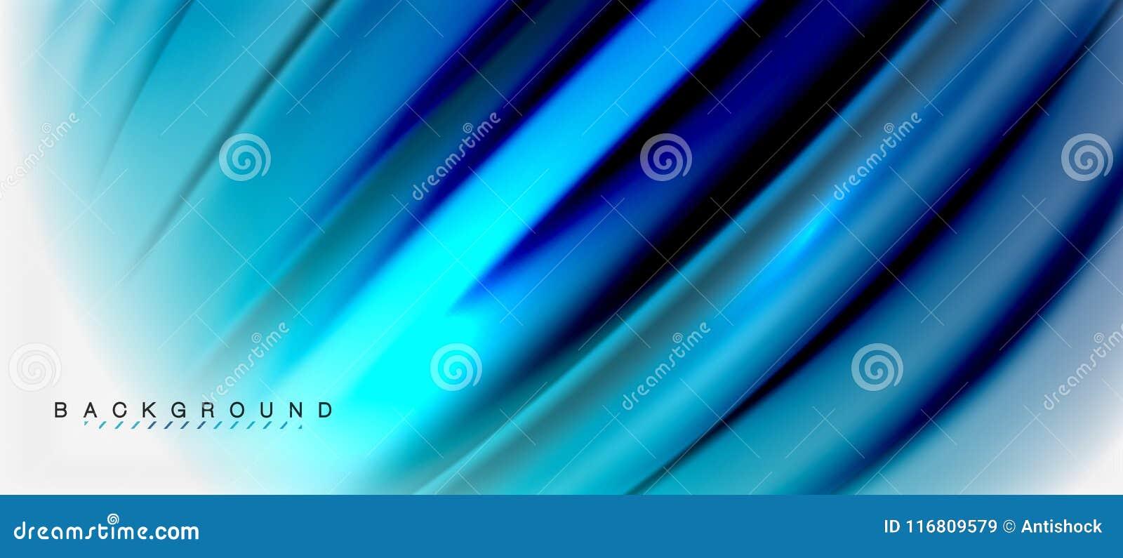 Il liquido vago colora il fondo, le linee delle onde dell estratto, illustrazione di vettore