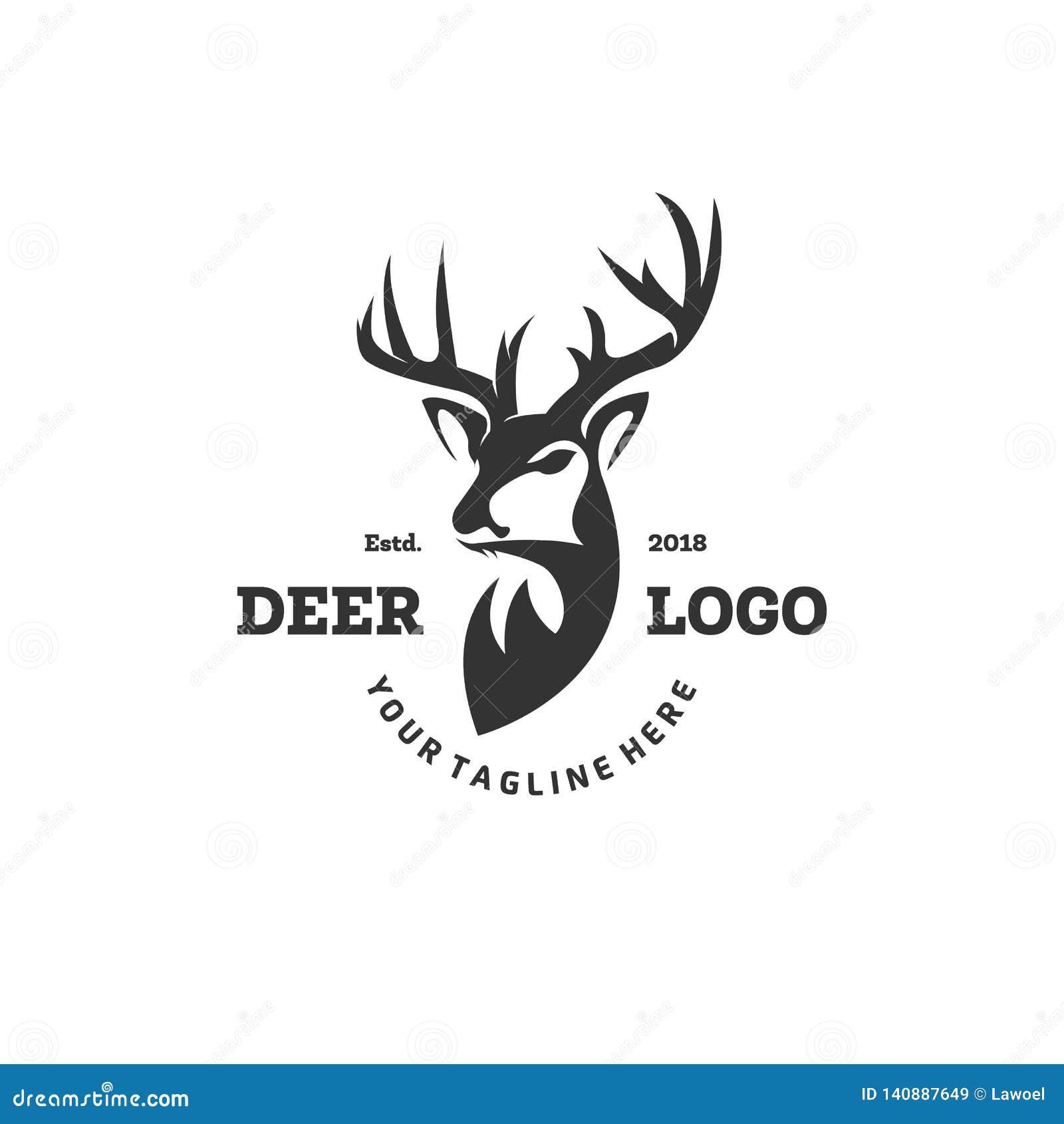 Il logo dei cervi progetta le ispirazioni, cercare il logo del club