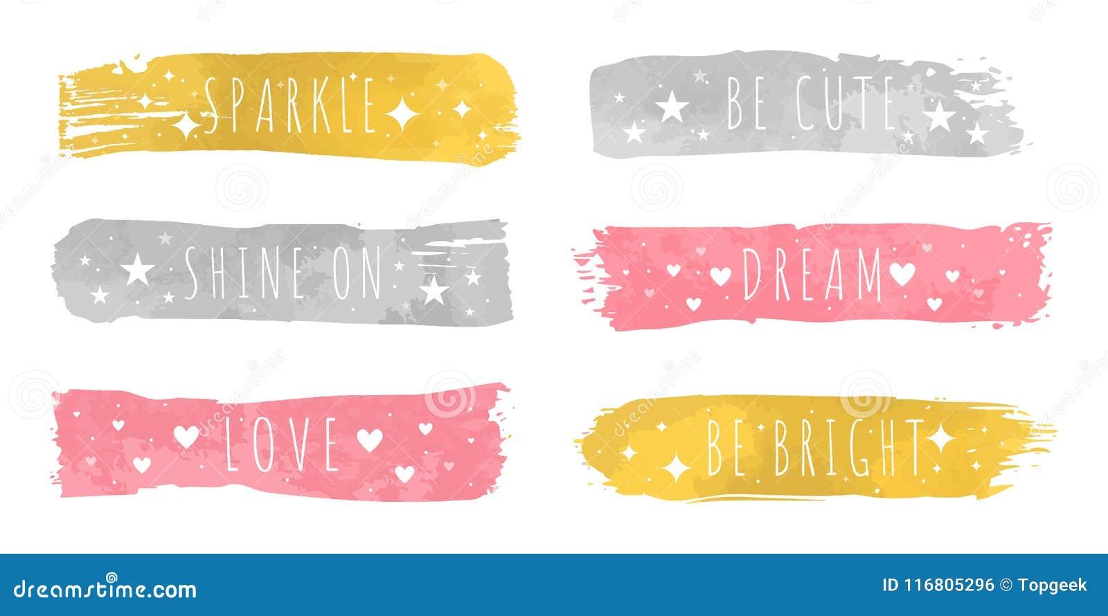 Il lusso brillante colora i campioni con lo slogan per ciascuno