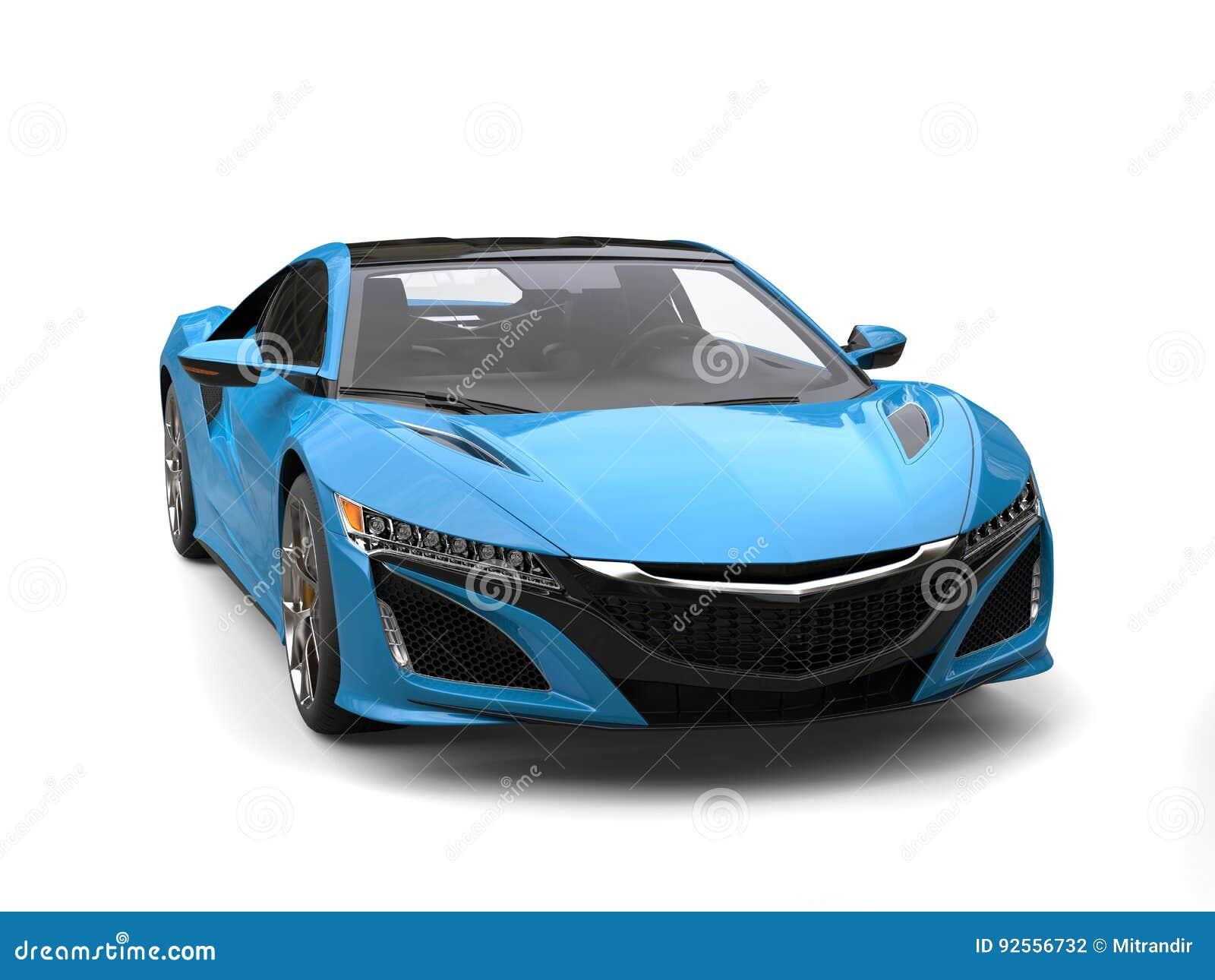 Il lusso moderno blu di Dodger mette in mostra il colpo automobilistico di bellezza