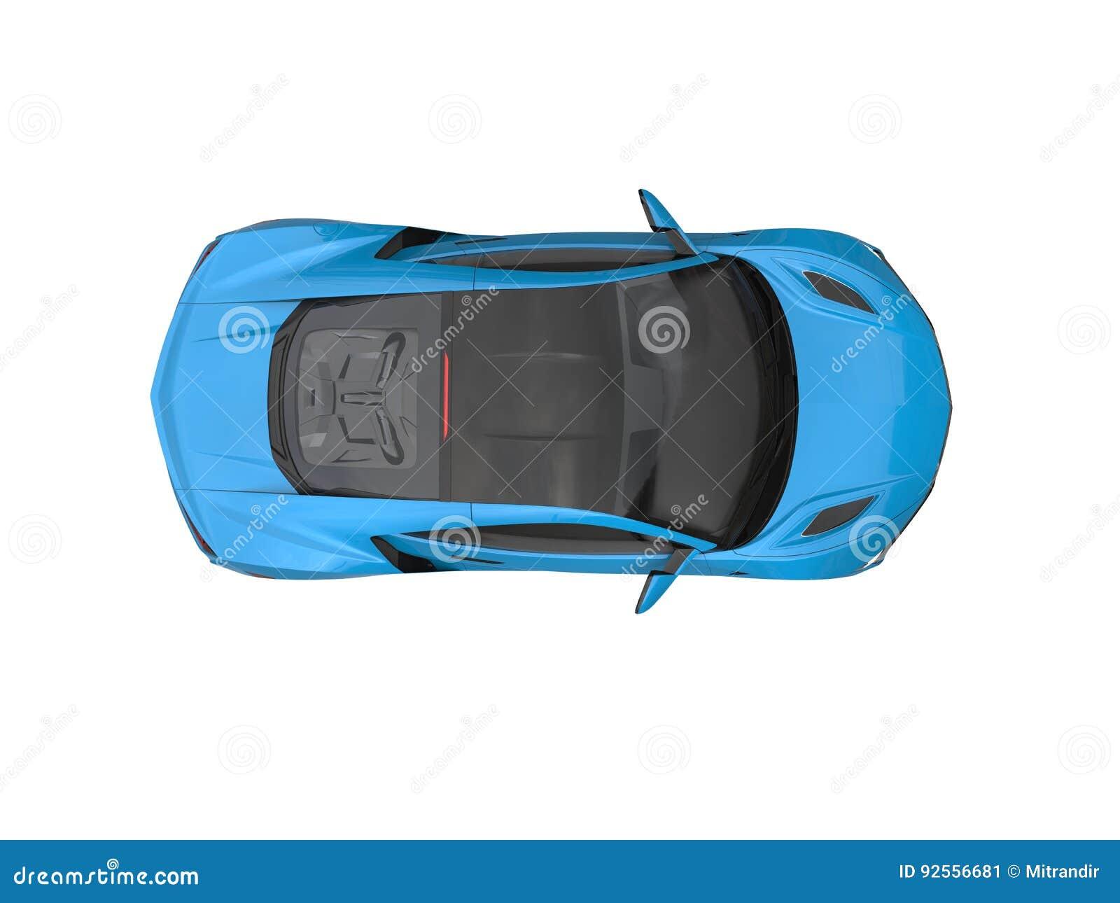 Il lusso moderno blu di Dodger mette in mostra la cima automobilistica giù osserva