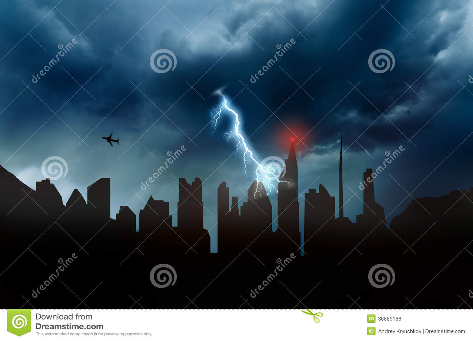 Download Il maltempo illustrazione di stock. Illustrazione di stormy - 36889186