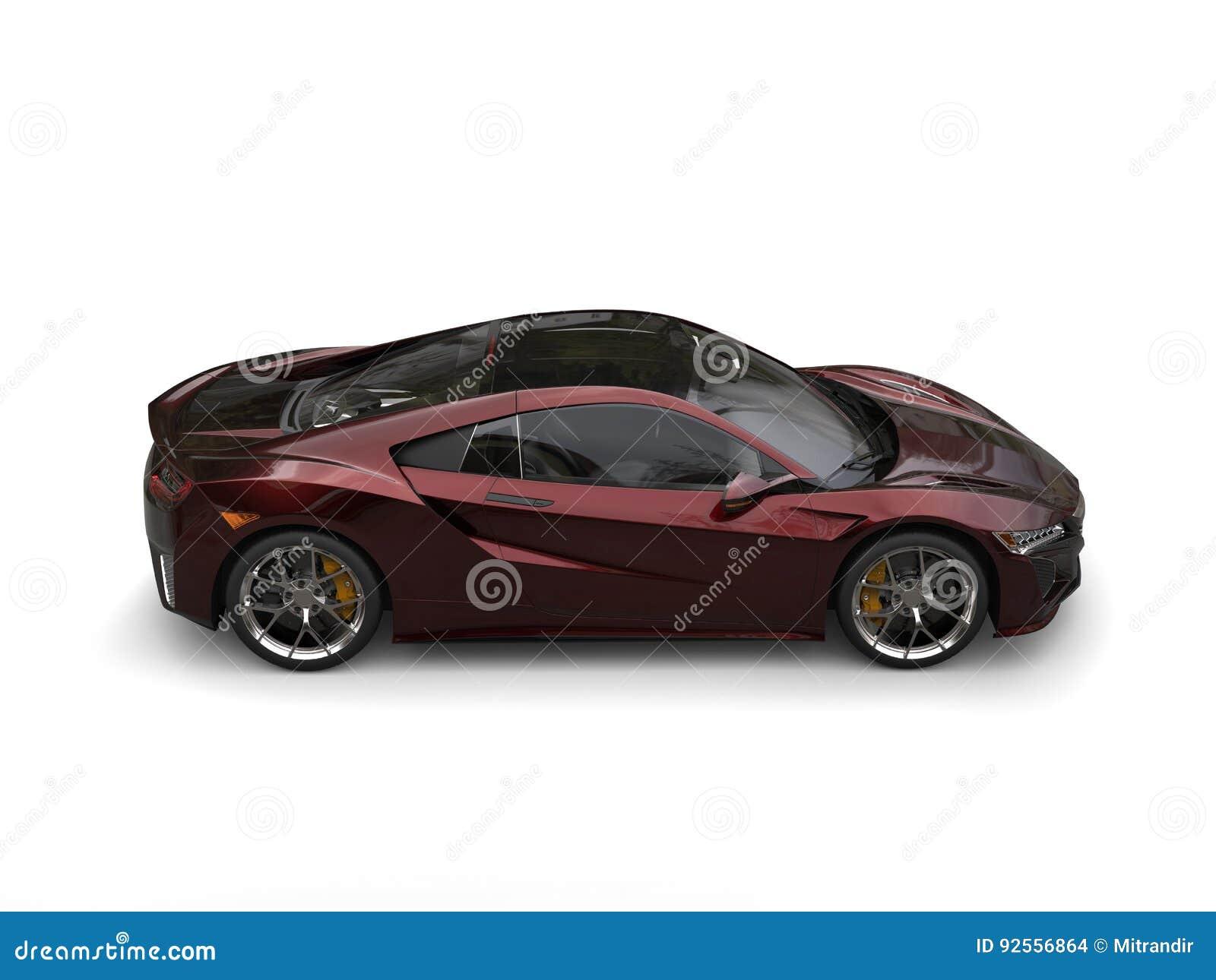 Il marrone rossiccio scuro mette in mostra l automobile di lato dispari superiore automobilistica di concetto