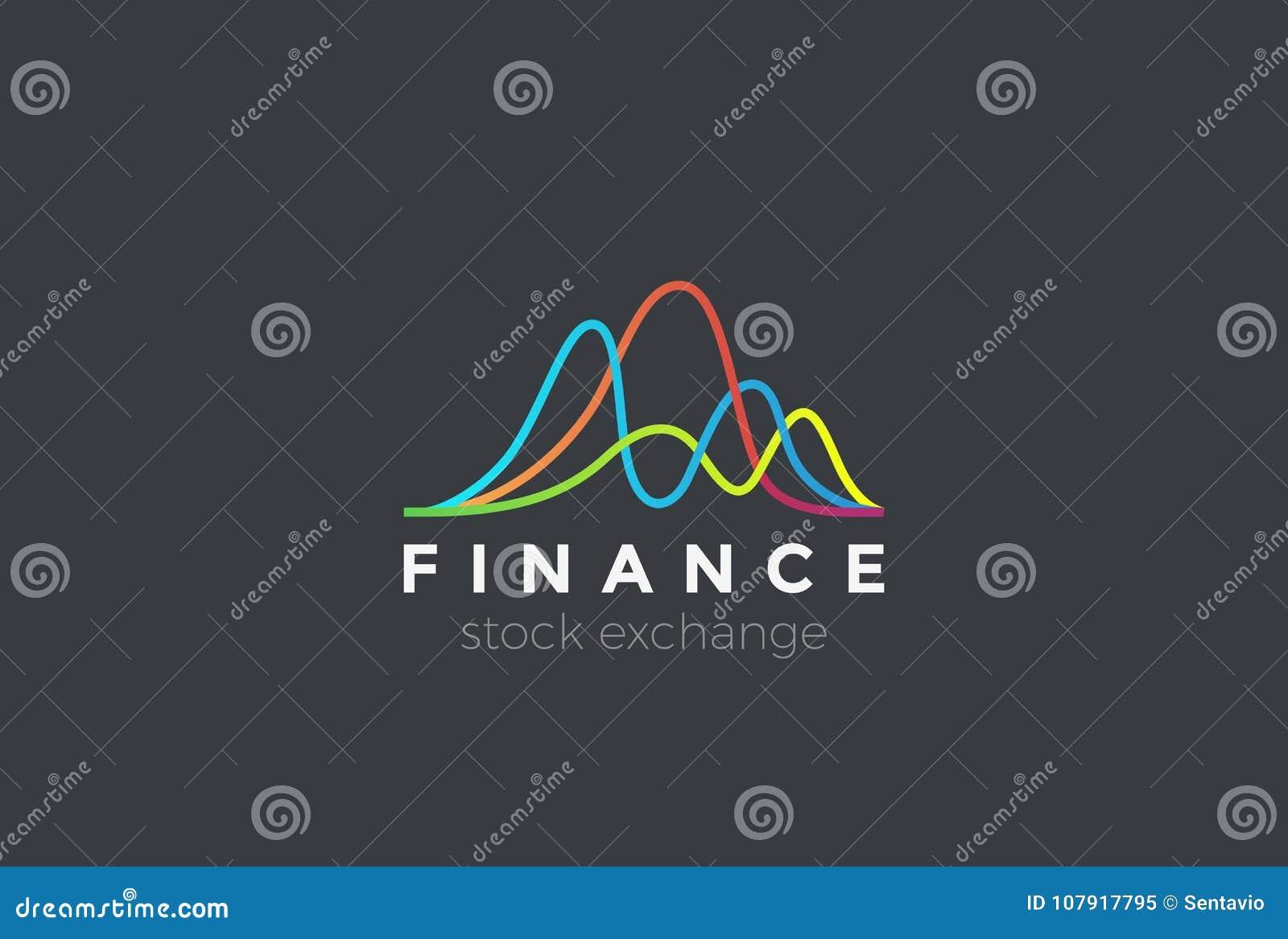 7188fd4710 Il Mercato Di Borsa Valori Finanziario Traccia Una Carta Del Logo ...