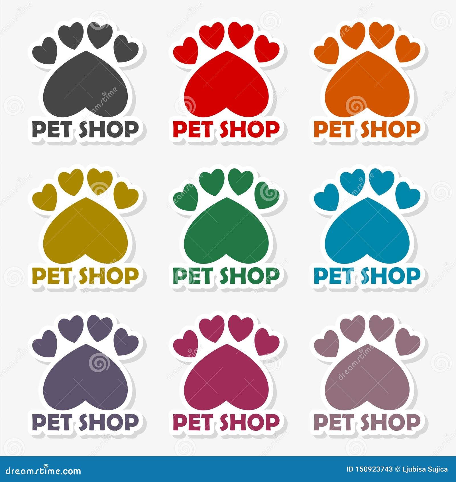 Il mio animale domestico caro, modello per i negozi di animali - illustrazione di progettazione di logo di vettore