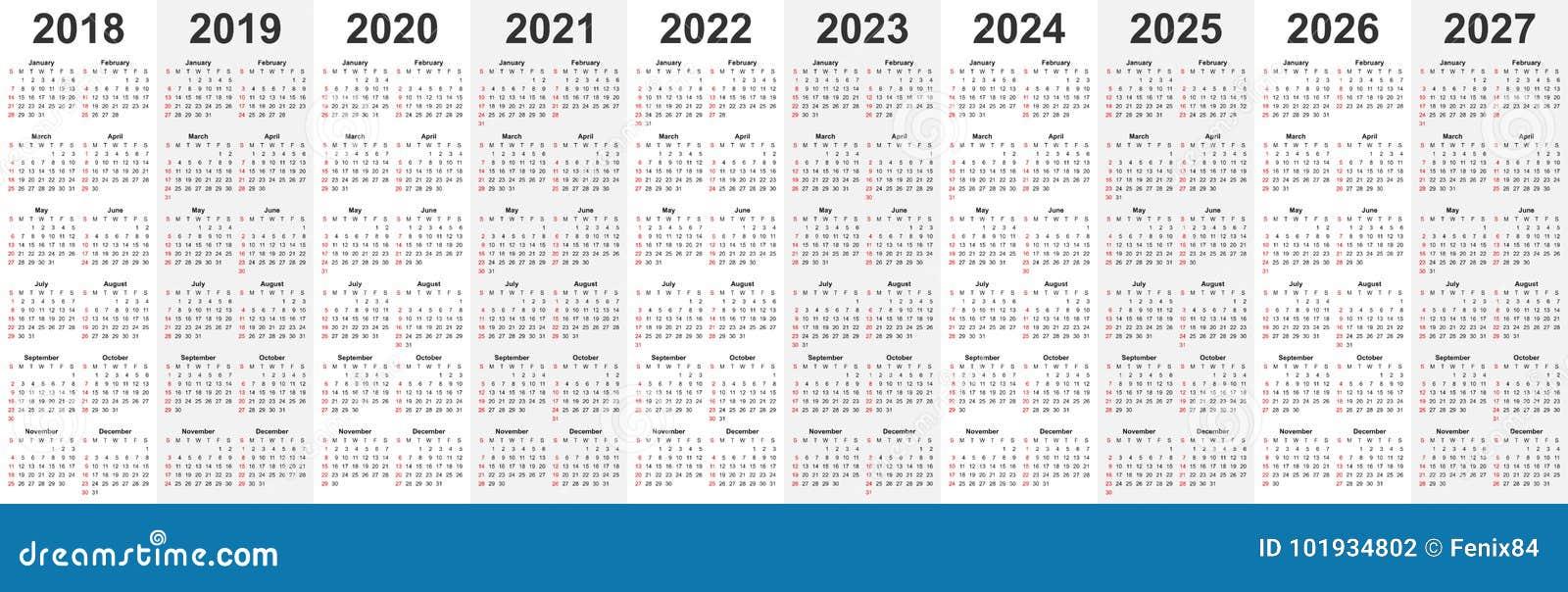 Calendario 2020 Editabile.Il Modello Del Calendario Ha Messo Per 2018 2019 2020