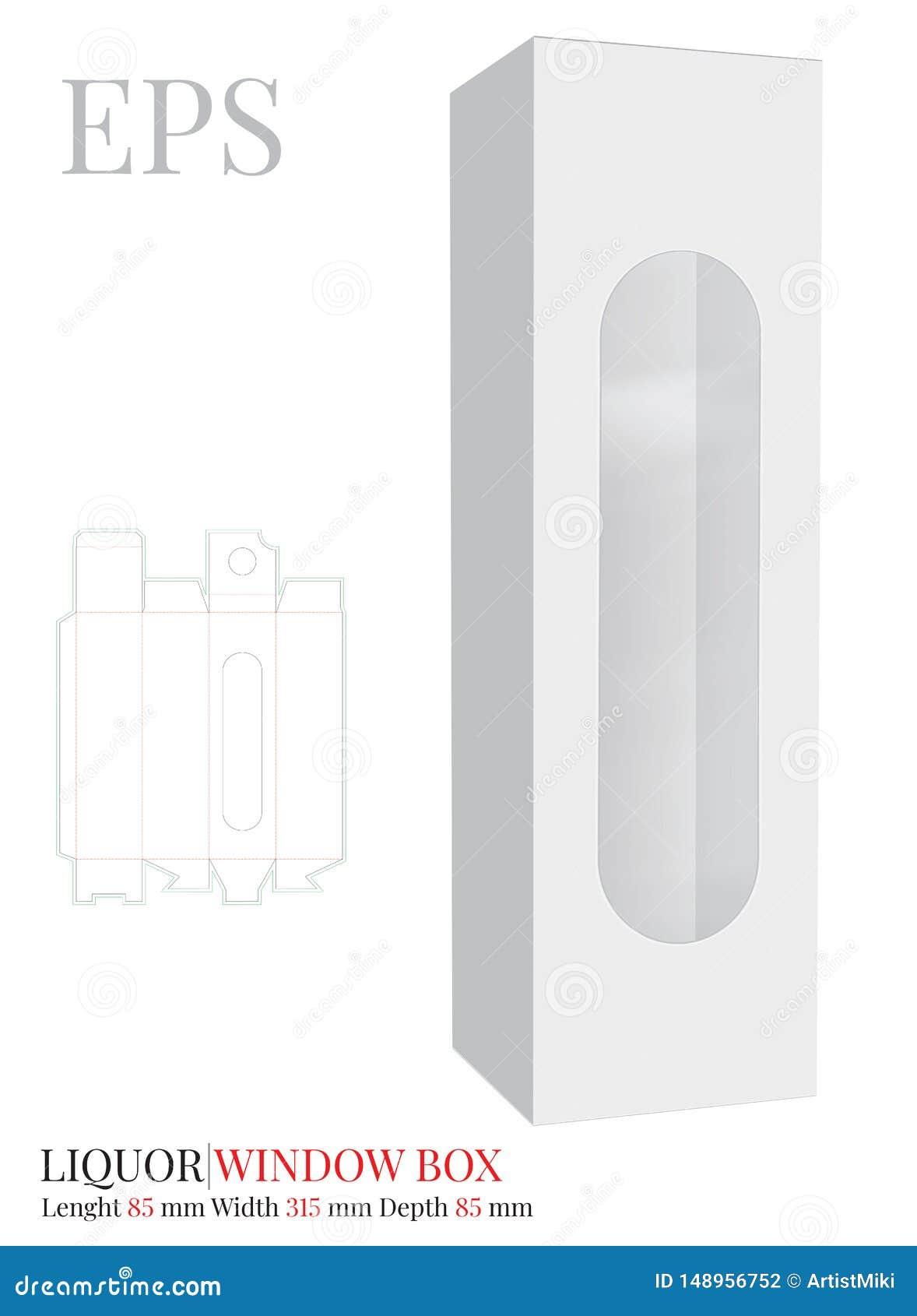 Il modello del contenitore di liquore, vettore con tagliato/laser ha tagliato gli strati Bianco, chiaro, spazio in bianco, conten