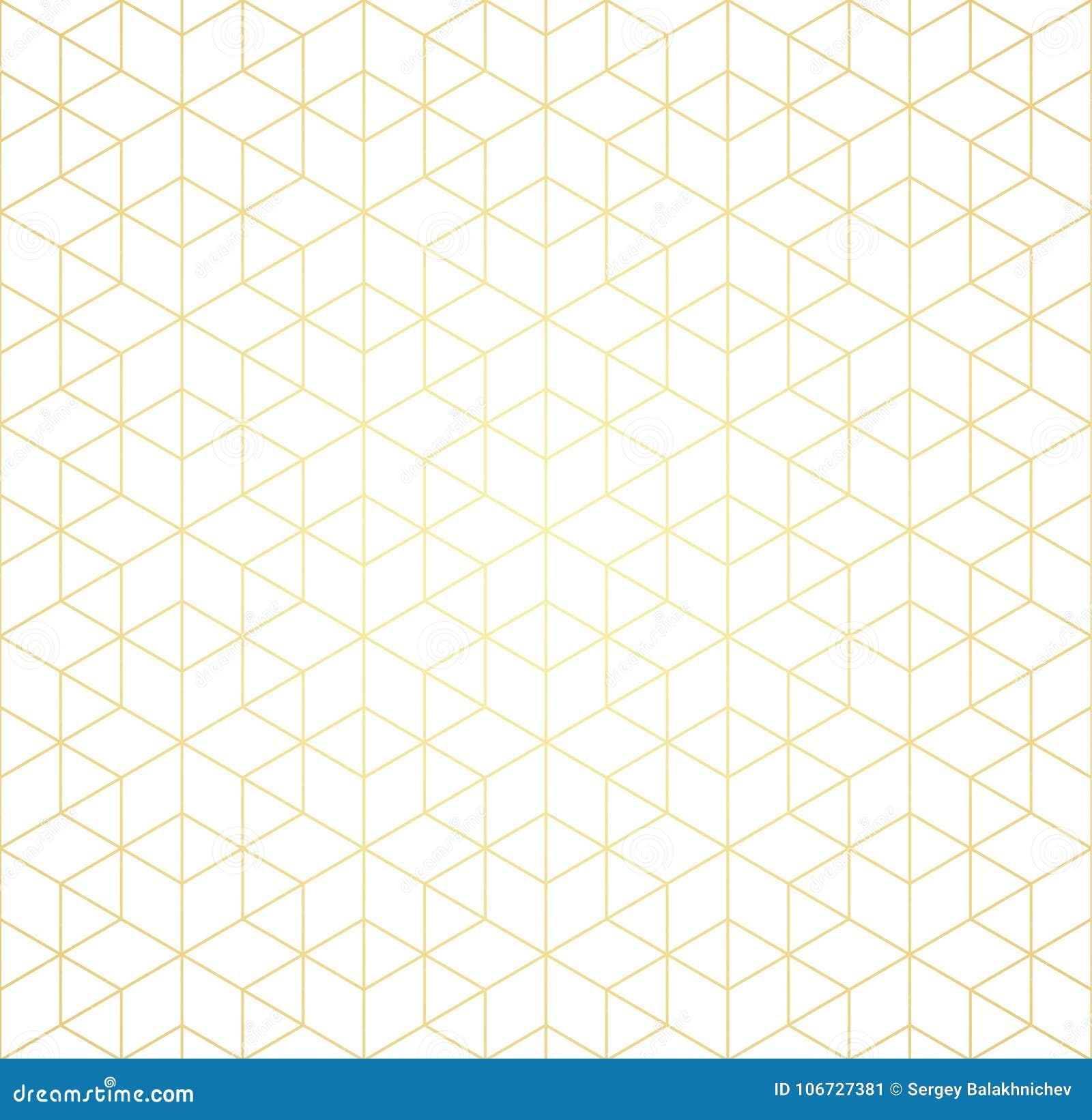 Il modello geometrico di intersezione allinea su un fondo bianco Pendenza dorata Priorità bassa astratta per il vostro disegno Ve