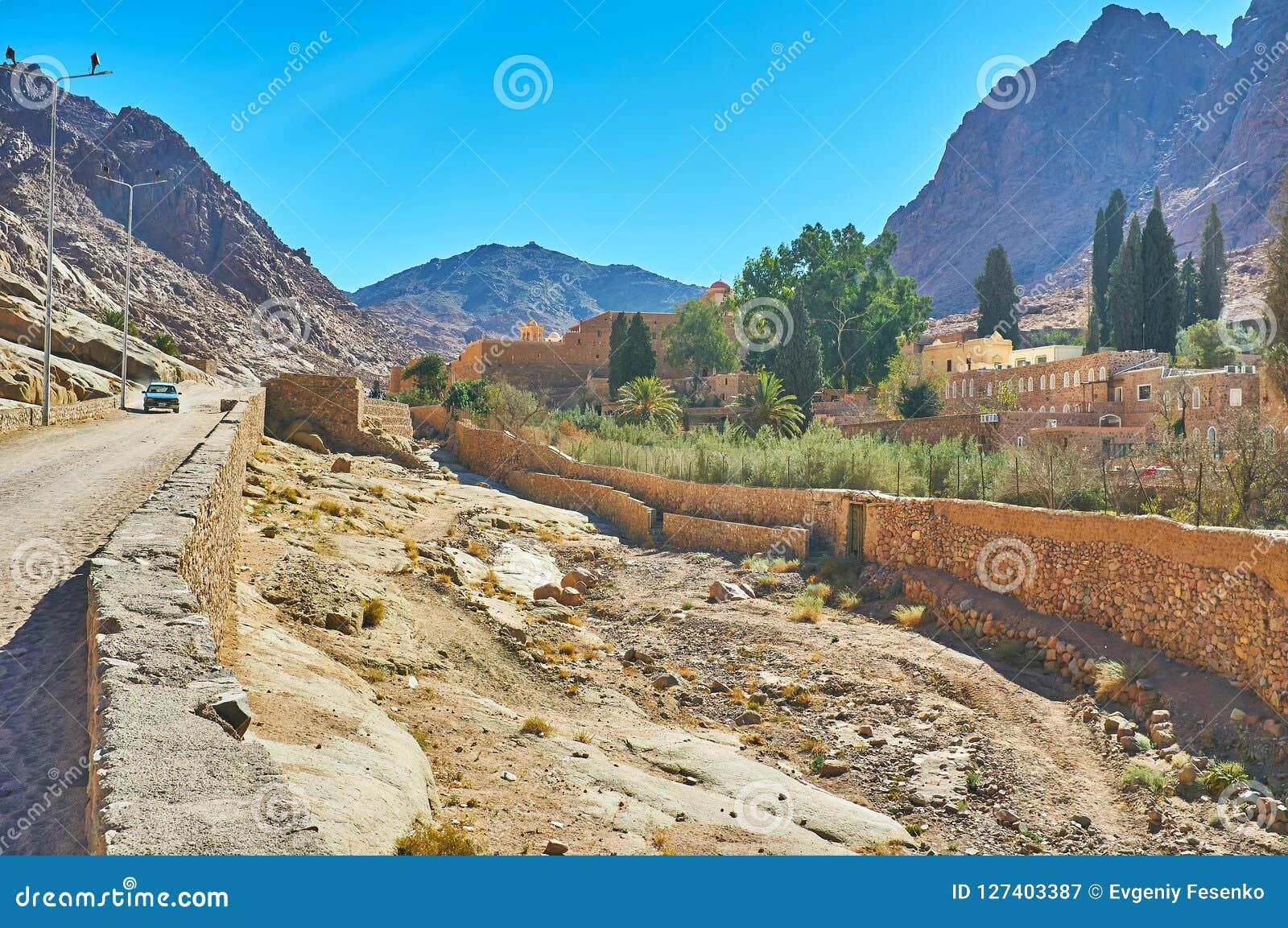 Il modo alla st Catherine Monastery, Sinai, Egitto