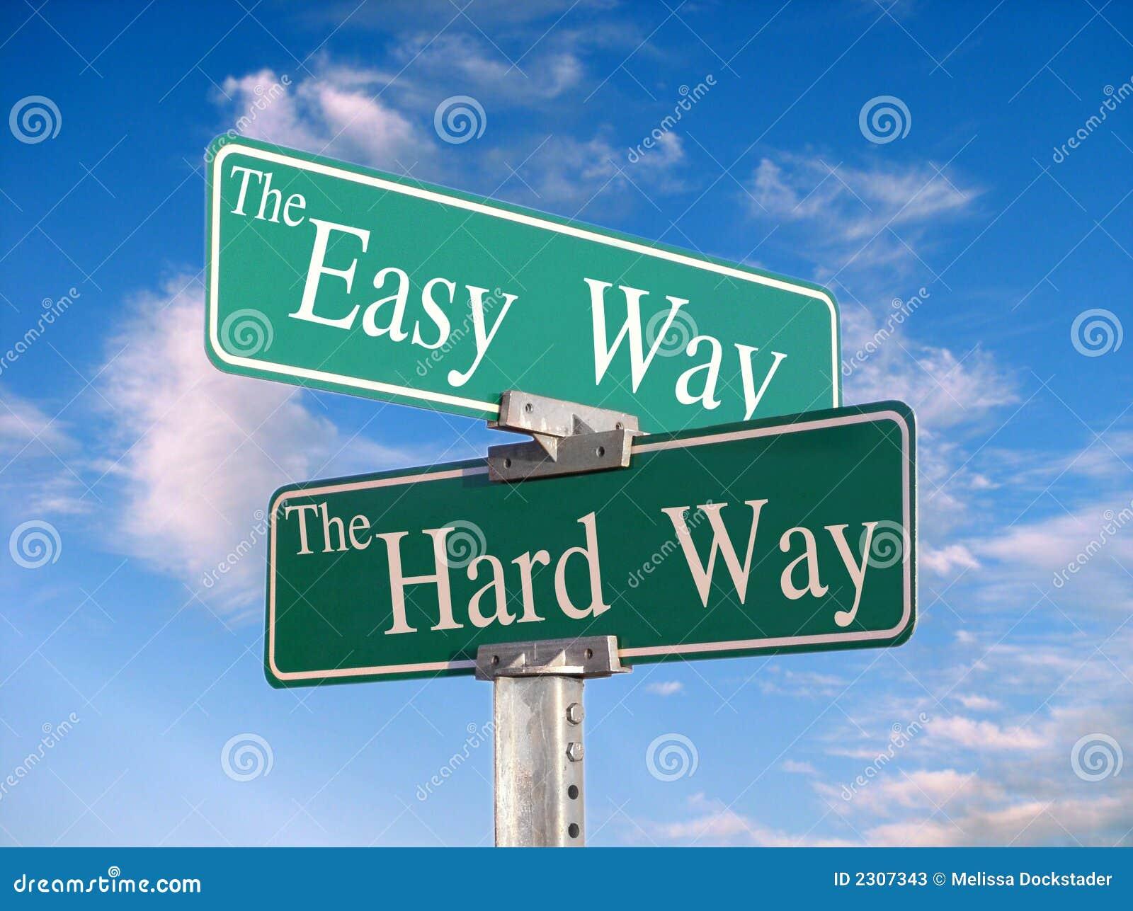 Il modo semplice, o modo duro