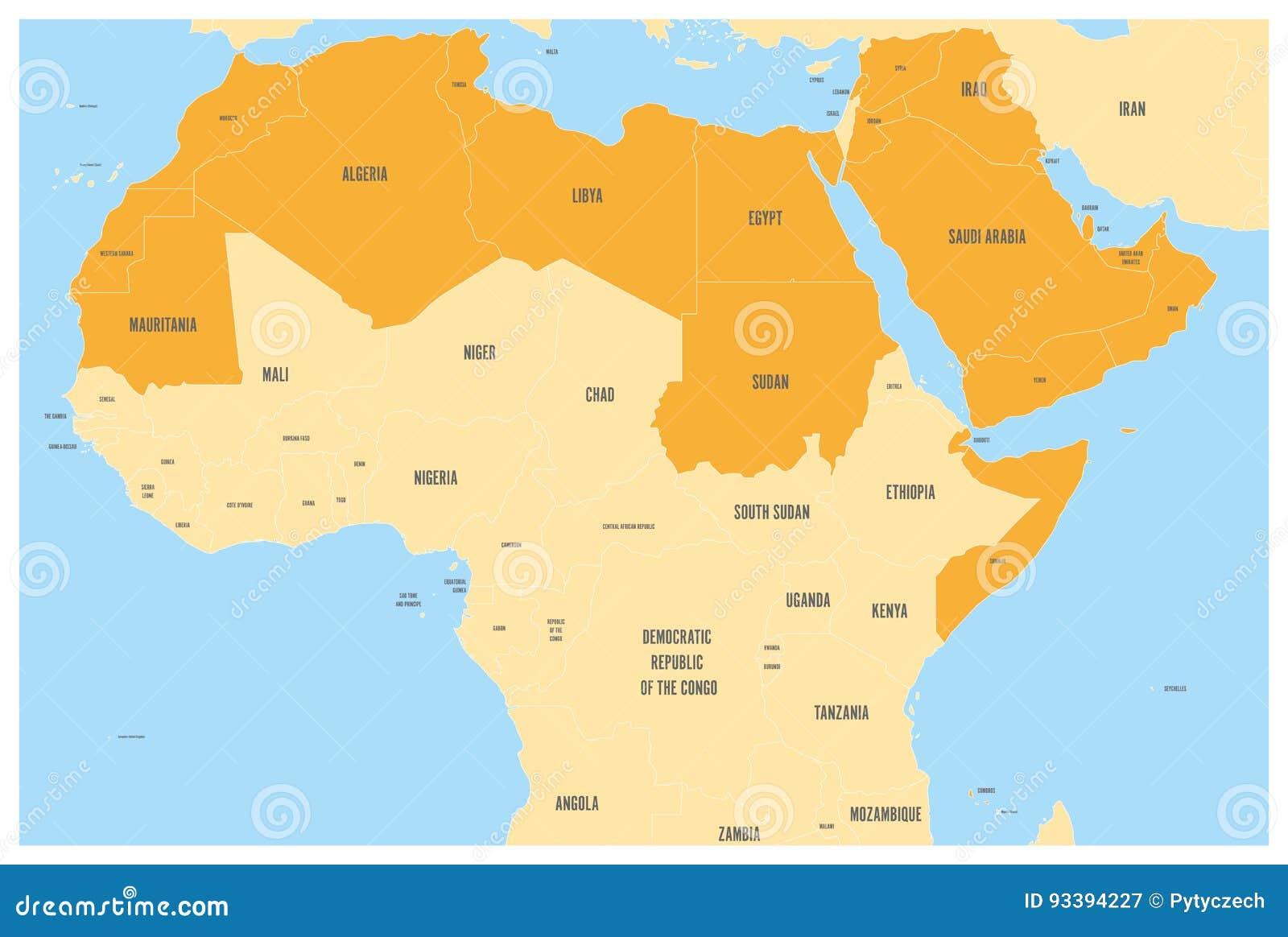 Mondo Arabo Cartina.Il Mondo Arabo Indica La Mappa Politica Con L Arancia Higlighted 22 Paesi Di Lingua Araba Della Lega Araba L Africa Del Nord Illustrazione Vettoriale Illustrazione Di Jordan Islam 93394227