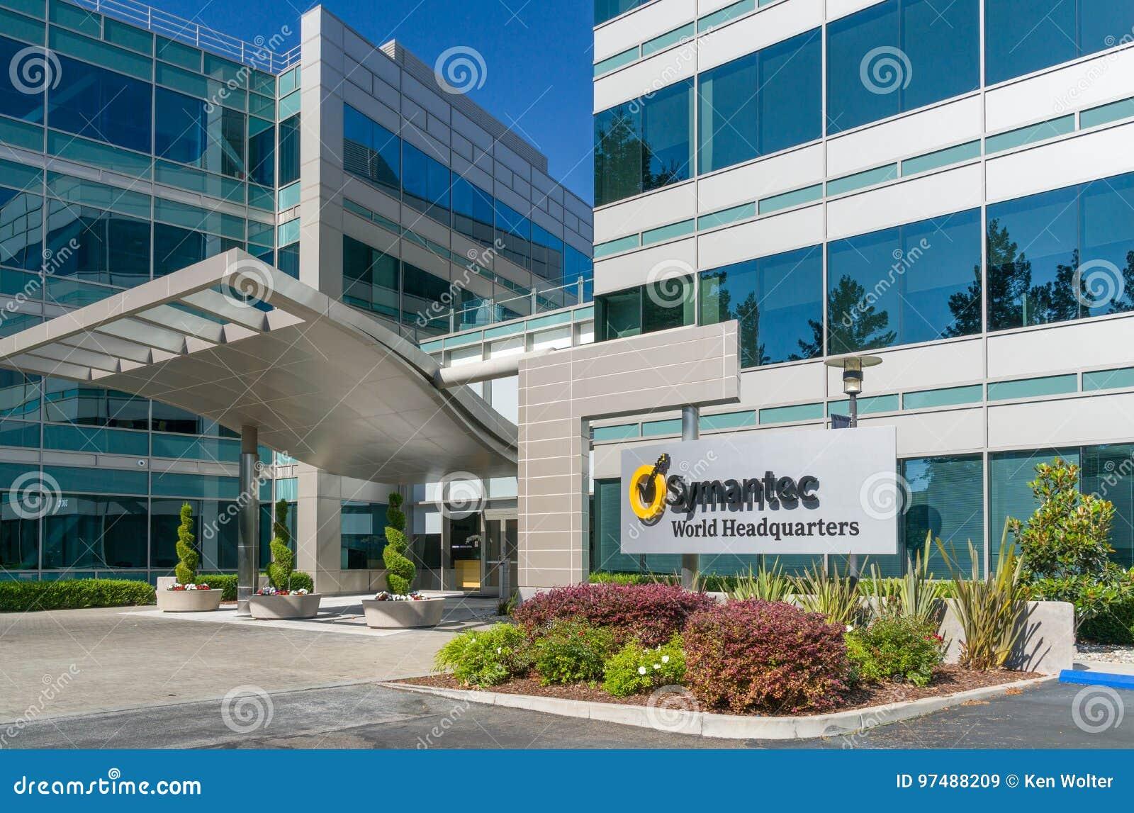 Il mondo di Symantec acquartiera la costruzione ed il logo
