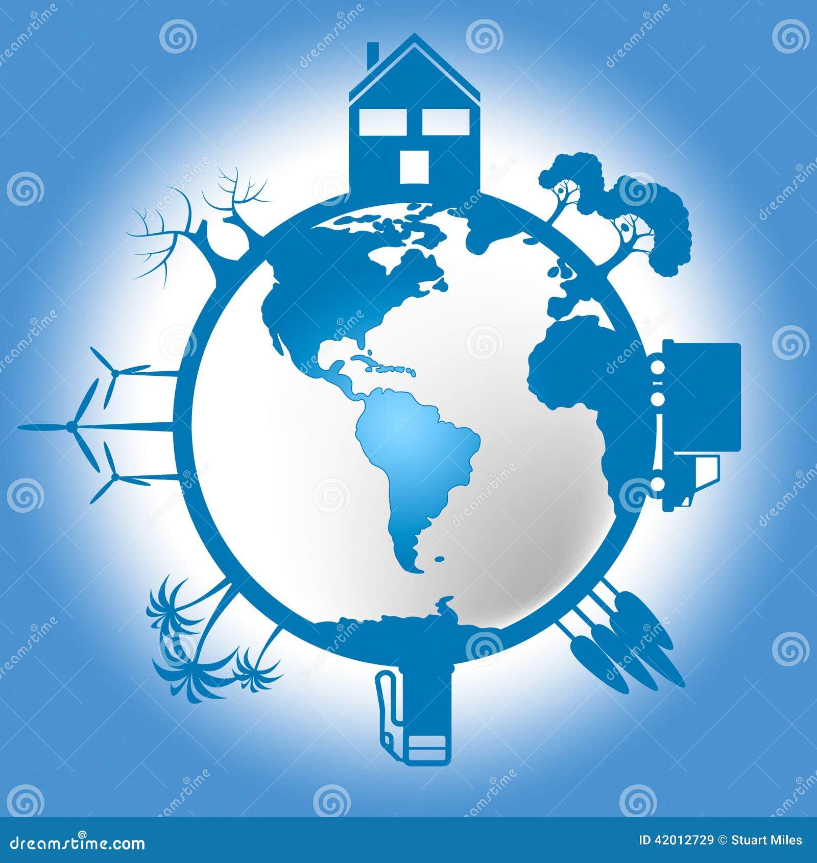 Il mondo eco indica va verde e conservazione illustrazione for Il verde mondo