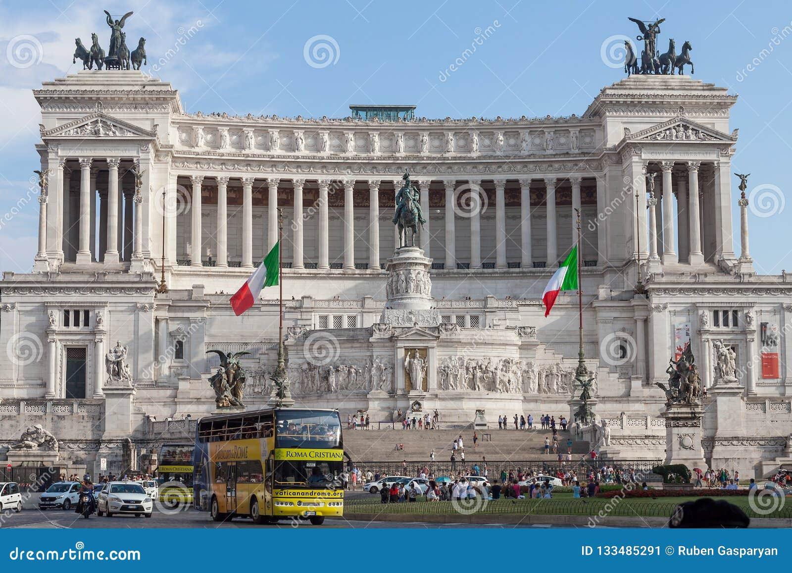 Il monumento nazionale a Victor Emmanuel II, Roma Italia