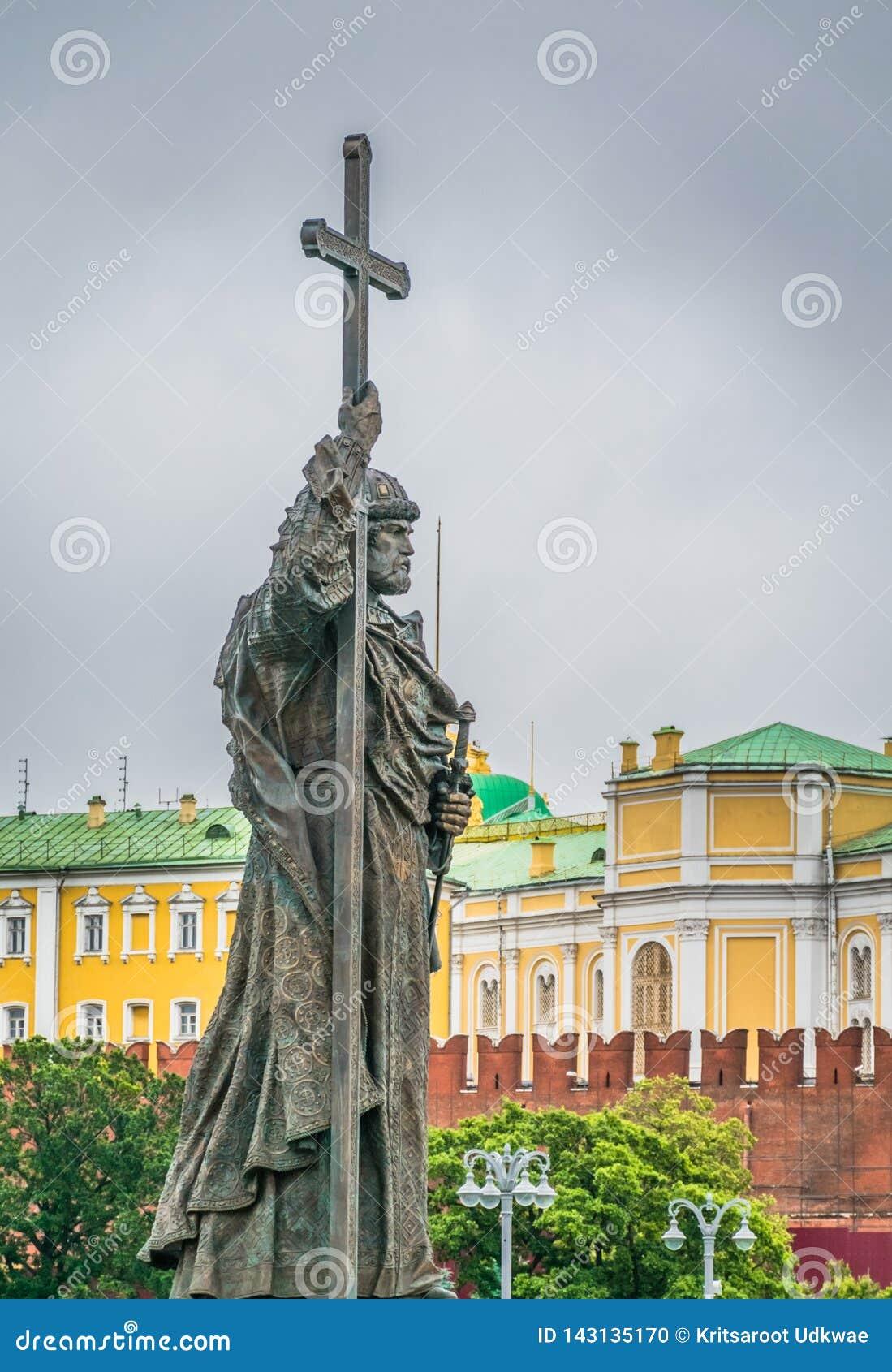 Il monumento a principe Vladimir a Mosca, Russia